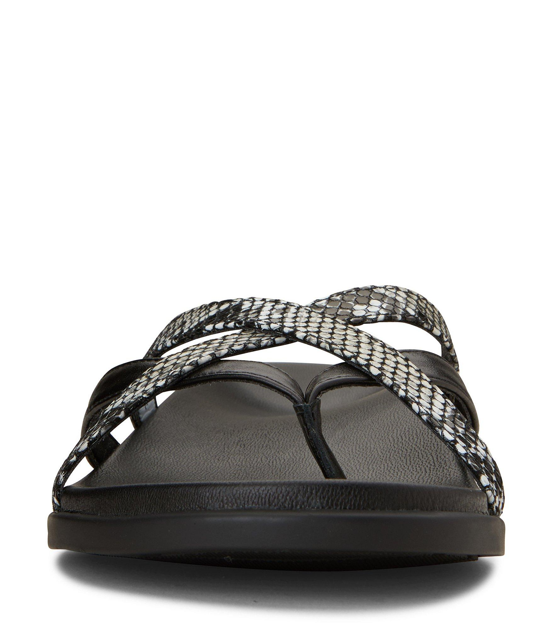 a4b8a511cf38 Lyst - Vionic Daisy Natural Snake Print Leather Toe Post Sandals in ...