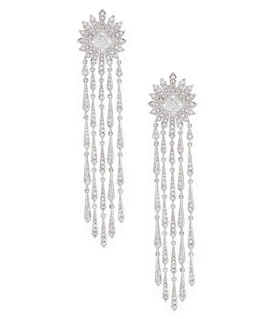 Nadri Sunburst Crystal Fringe Statement Chandelier Earrings in ...