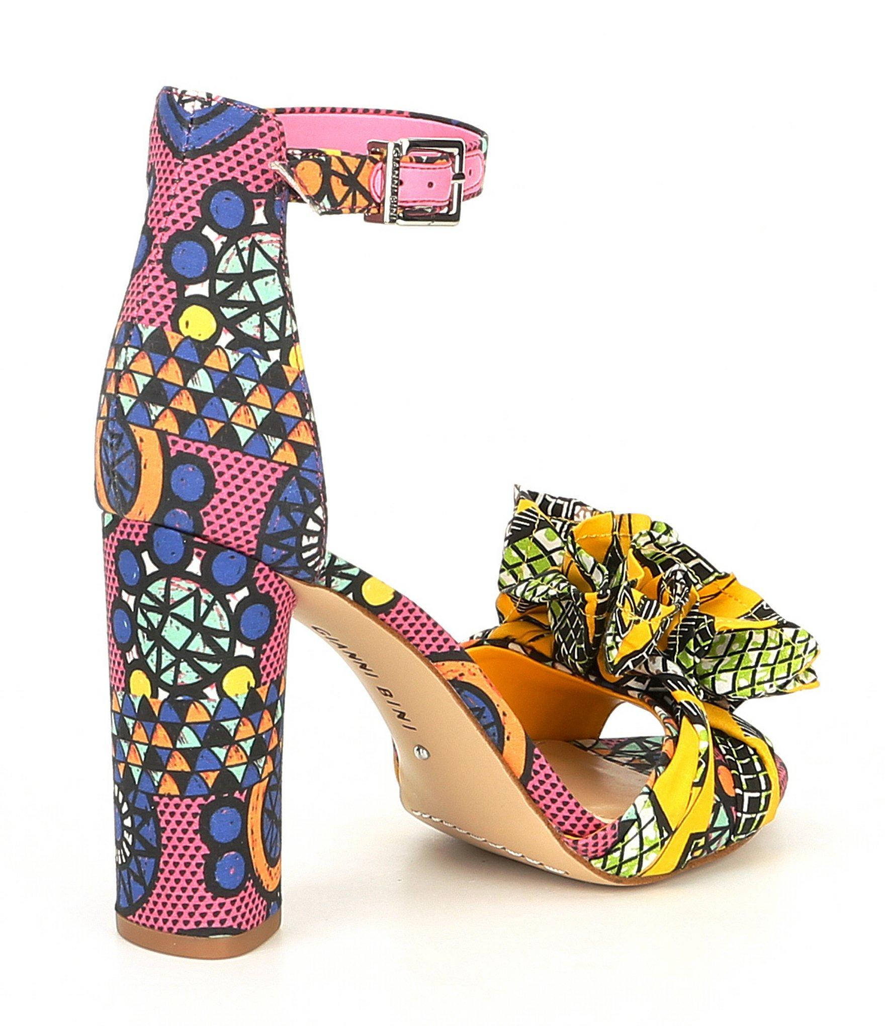 2e53243294a Gianni Bini - Multicolor Lorree Printed Flower Pom Sandals - Lyst. View  fullscreen