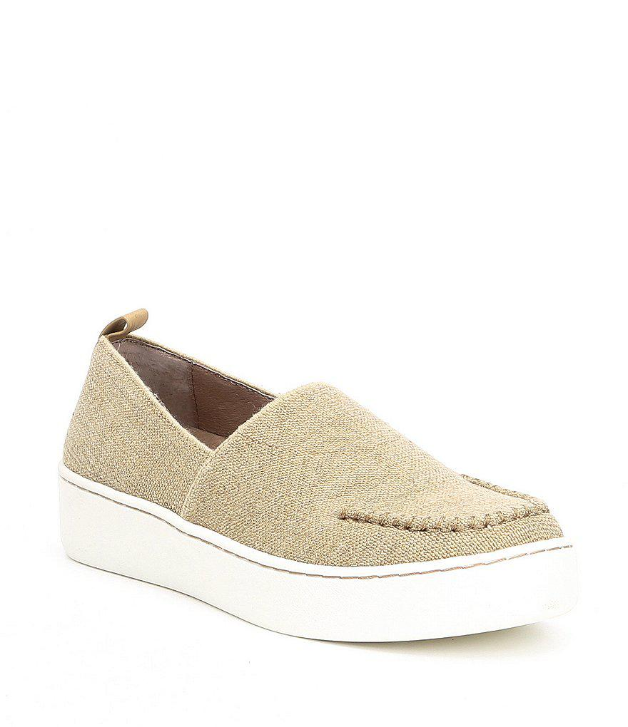 Cory Stretch Linen Slip-On Sneakers r2a2JqKdg