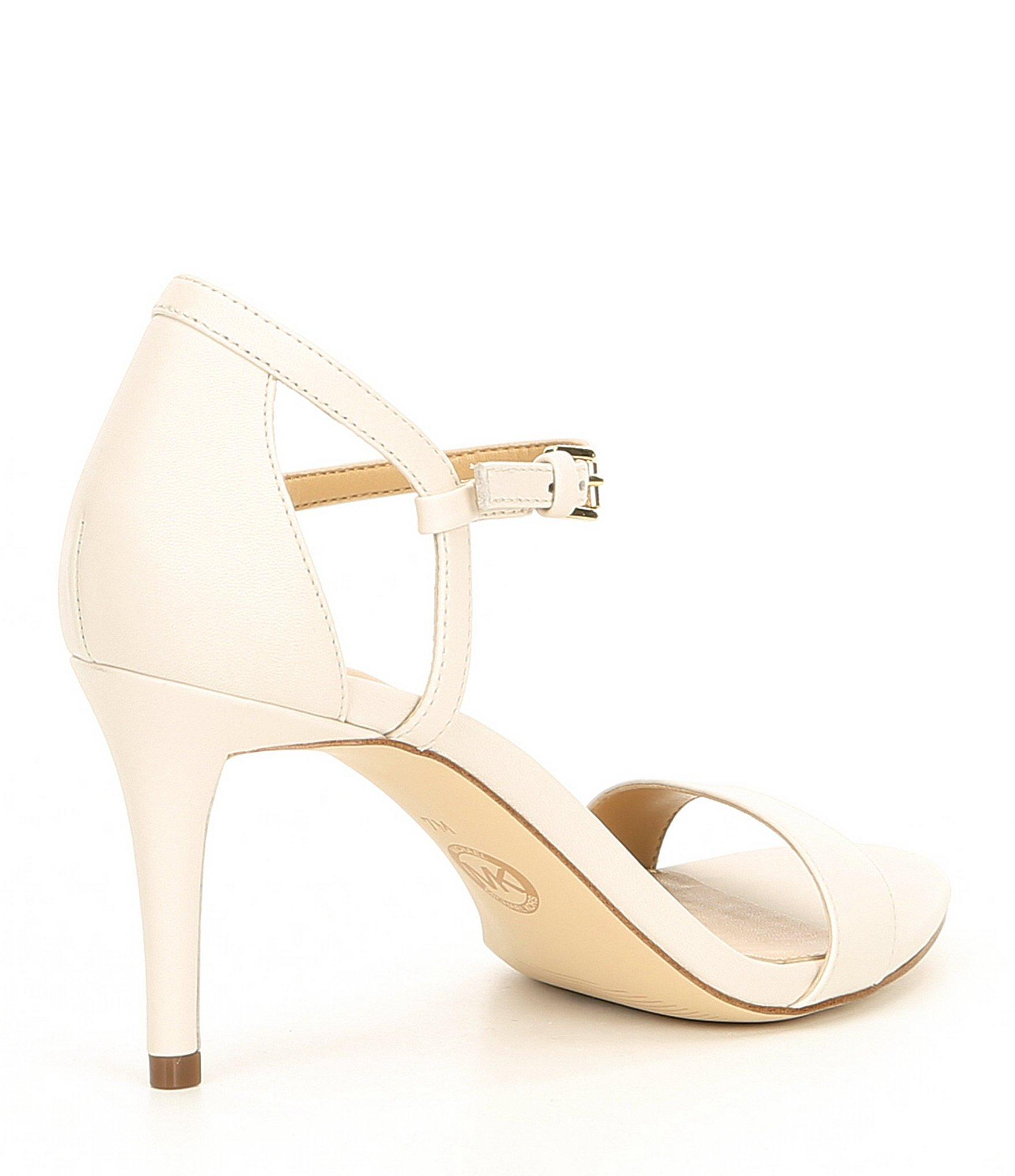 cb563ac91454 MICHAEL Michael Kors - Natural Simone Mid Dress Sandals - Lyst. View  fullscreen
