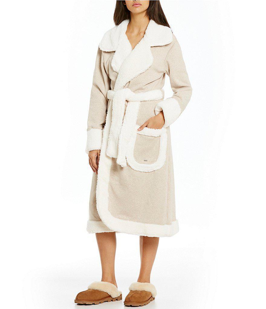 Lyst - UGG ® Duffield Deluxe Plush Long Robe in Natural 348d7ff16