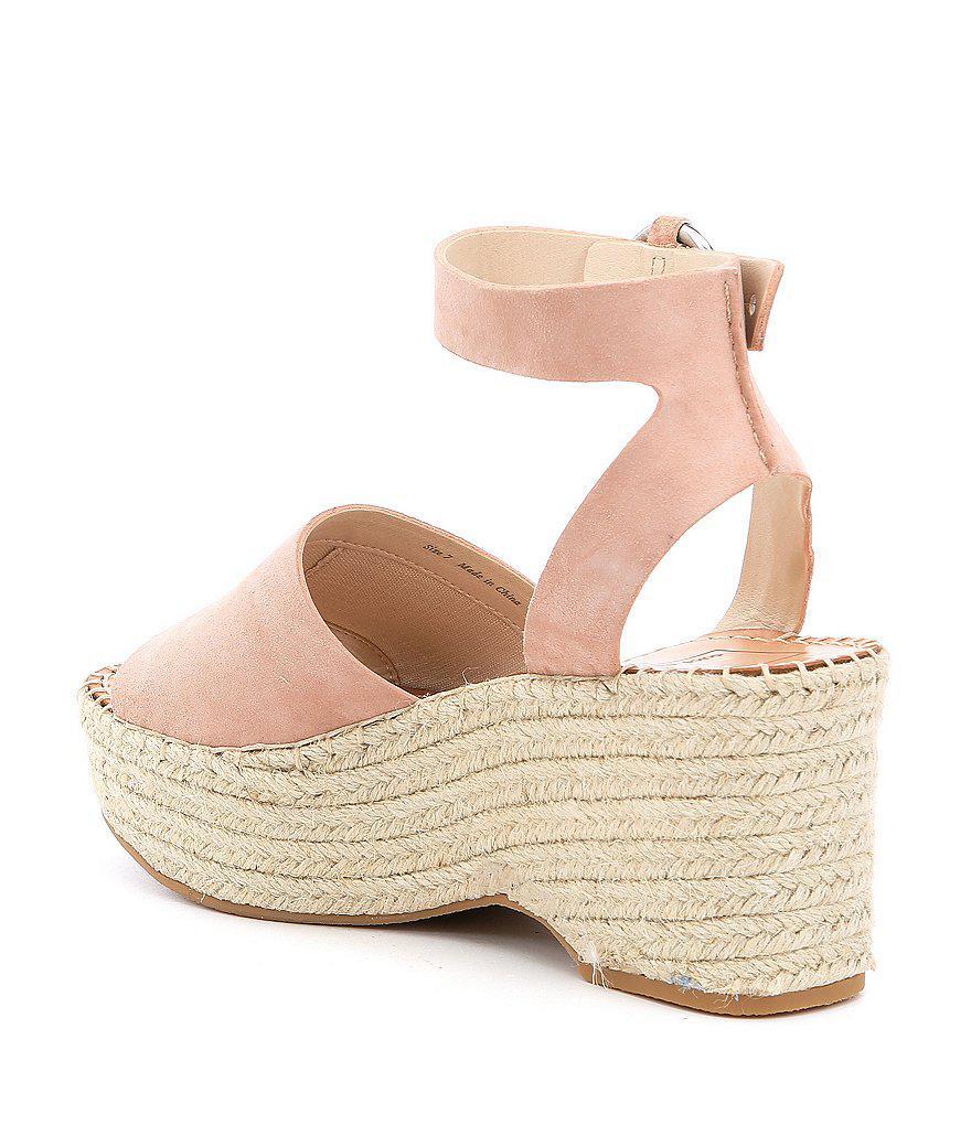 Lesly Suede Ankle Strap Platform Espadrille Sandals tyVWF5Nl