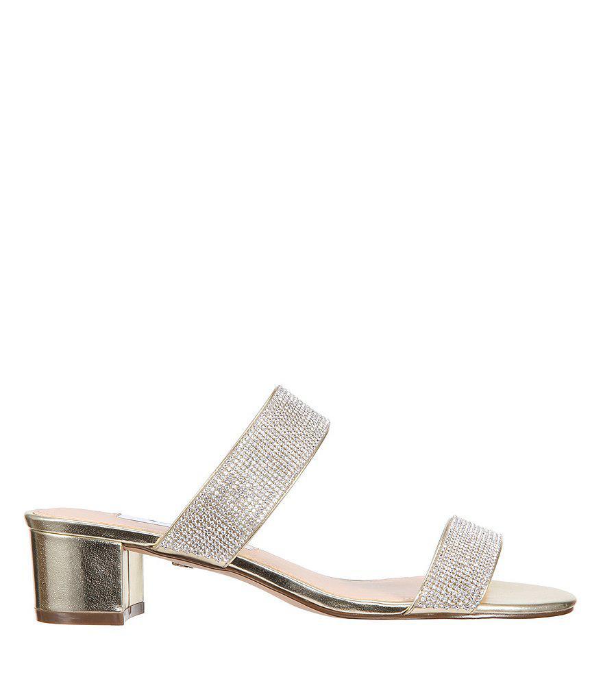 Nina Georgea Metallic Block Heel Dress Sandals gffUUWawVs