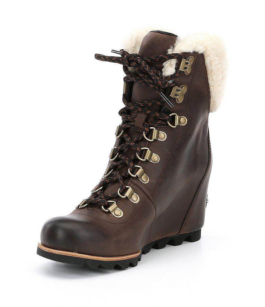 sorel Women's Conquest Genuine Shearling Cuff Waterproof Boot eP5WWtcs
