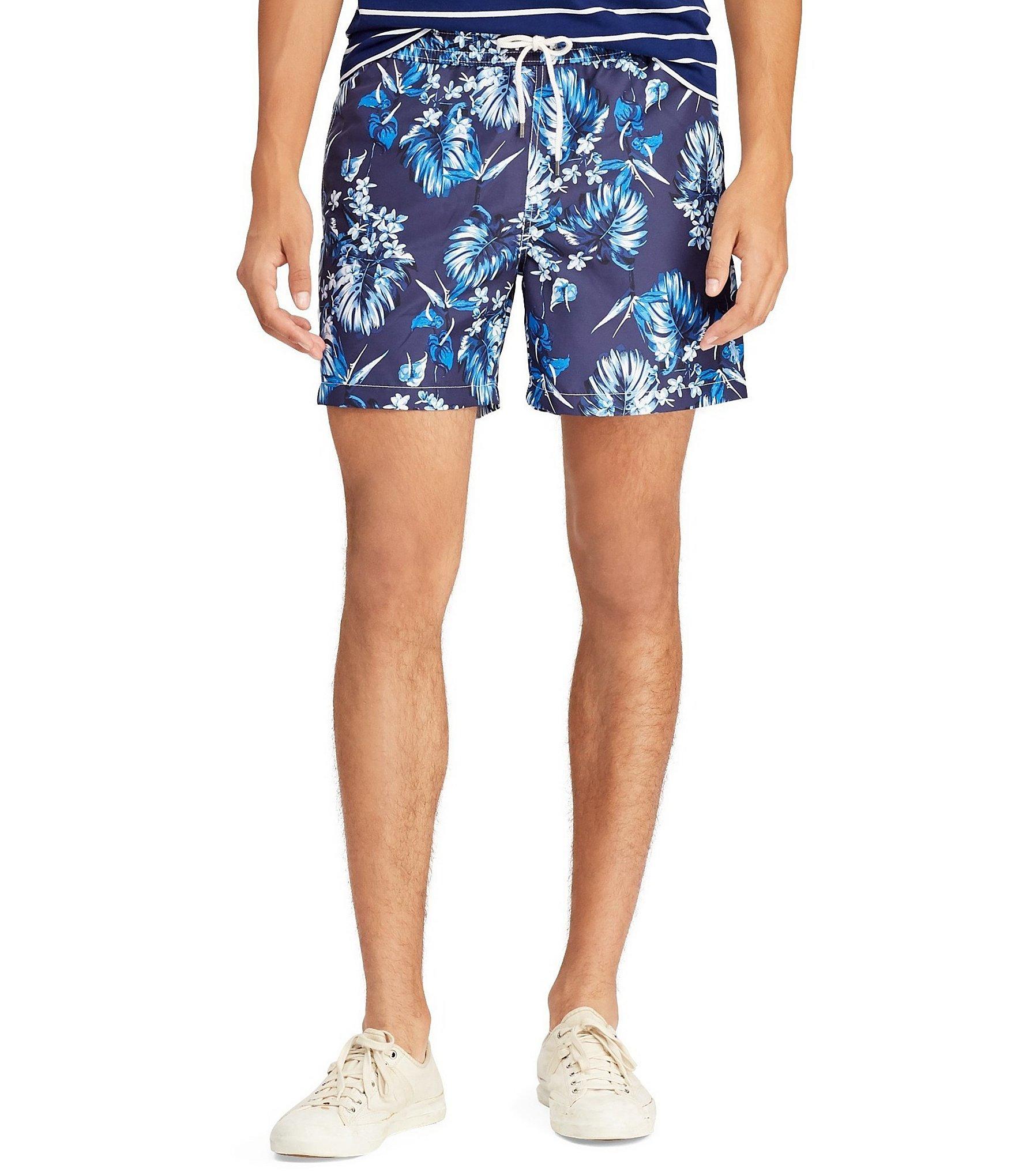 5d8a827428 Lyst - Polo Ralph Lauren 51⁄2-inch Traveler Swim Trunk in Blue for Men