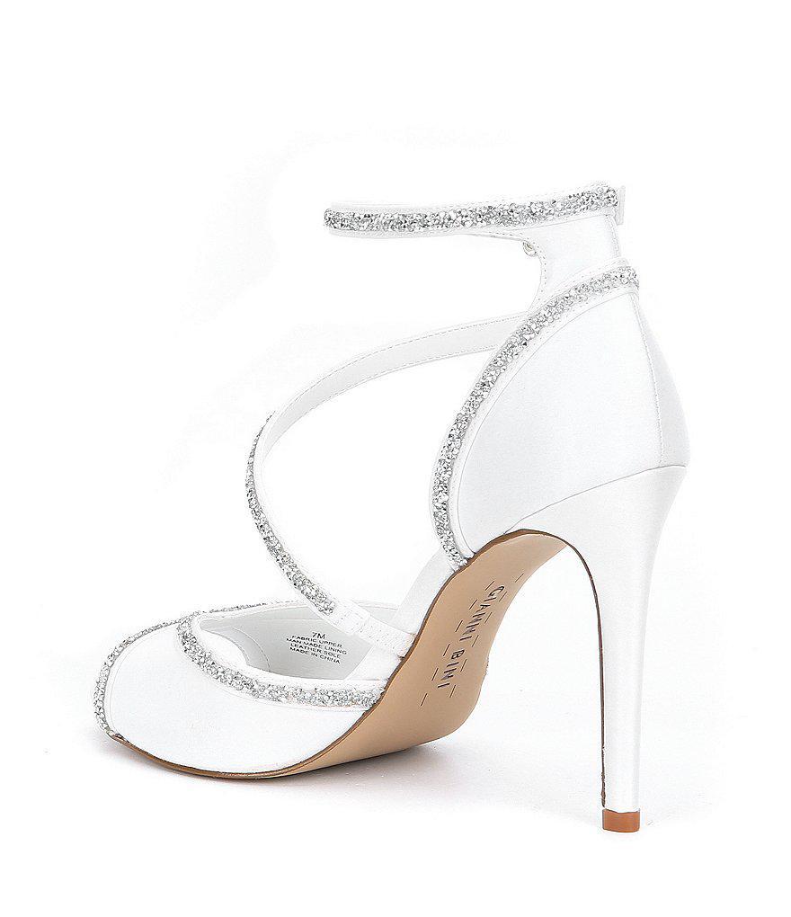 Rosalynd Satin Hot Rock Detail Ankle Strap Dress Sandals Ybu03cz