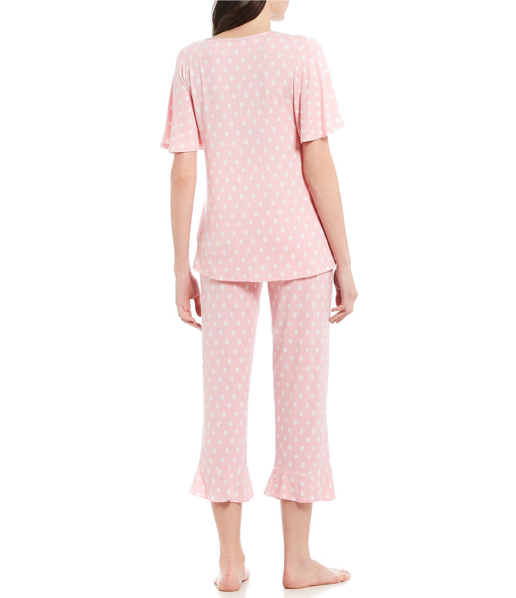 e240d513e85 Kate Spade - Pink Dot-print Jersey Pajama Set - Lyst. View fullscreen