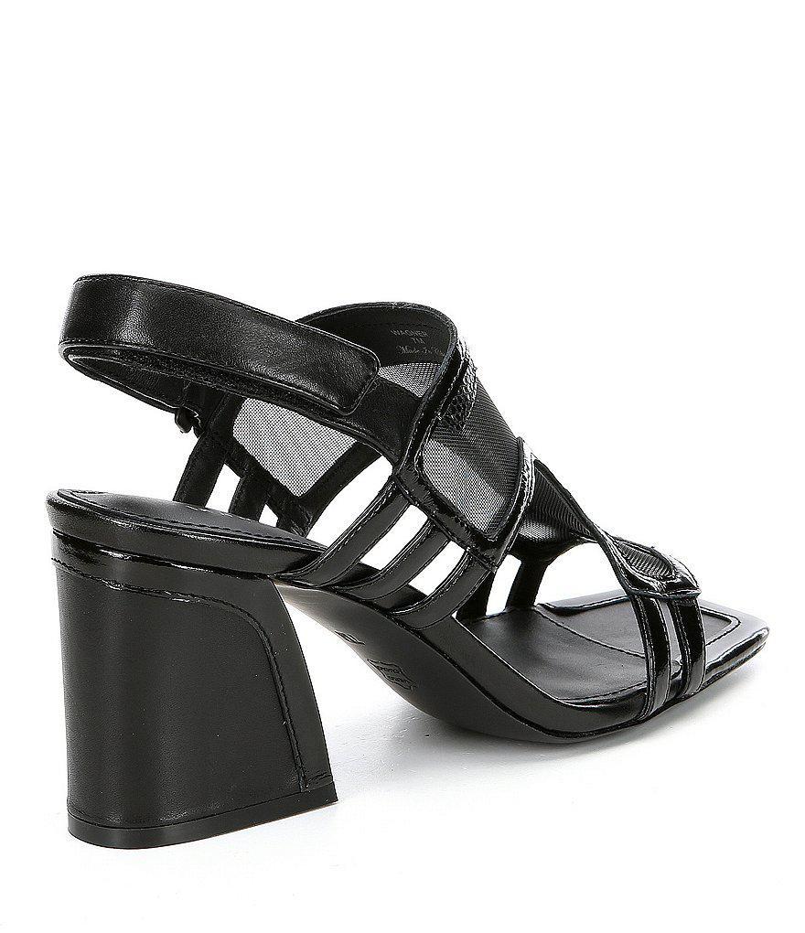 Wagner Mesh Banded Block Heel Sandals 4FipvW