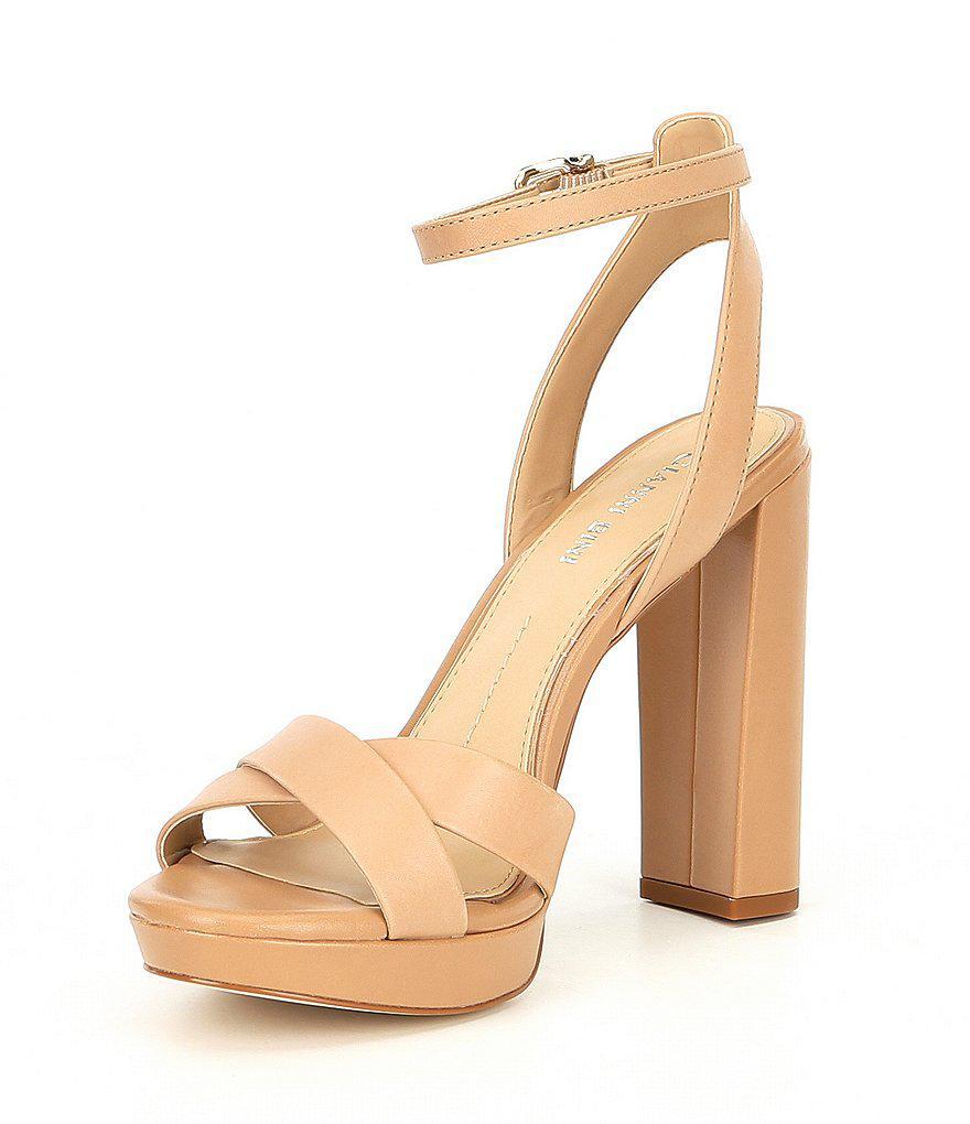 Veeniz Leather Block Heel Dress Sandals 1KaJ9