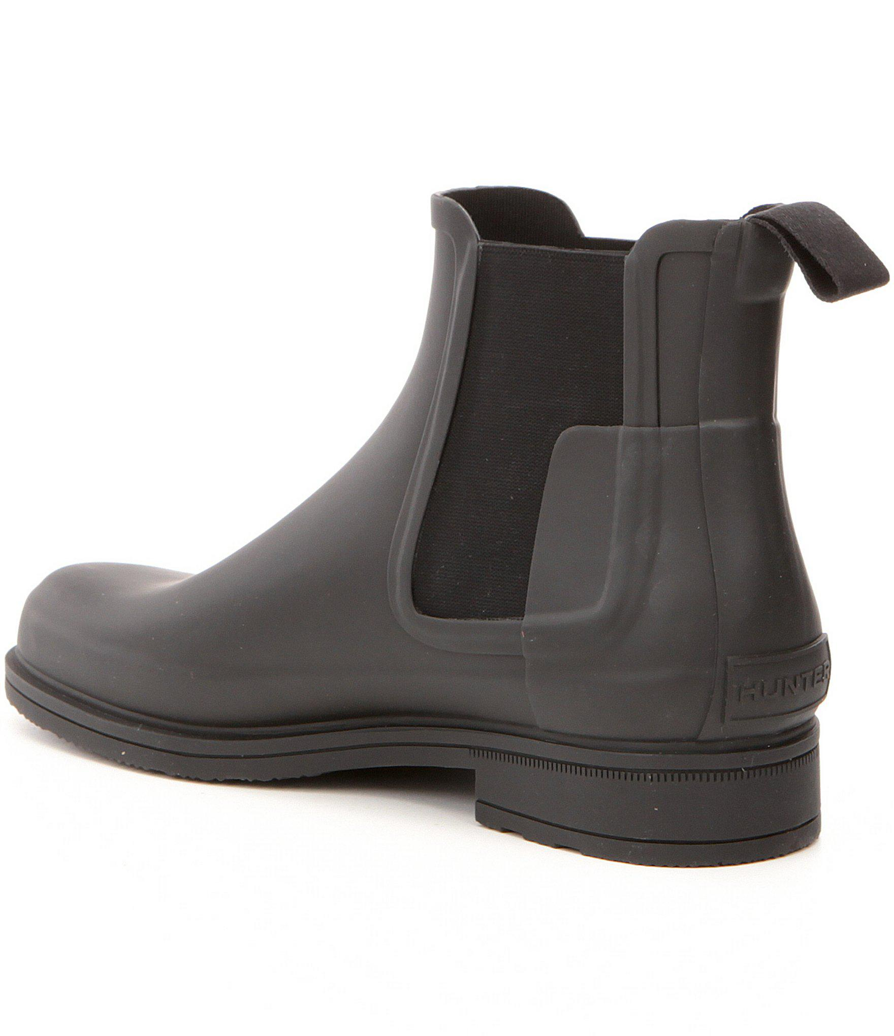 39d413660993 Hunter - Black Men s Original Waterproof Refined Chelsea Boots for Men -  Lyst. View fullscreen