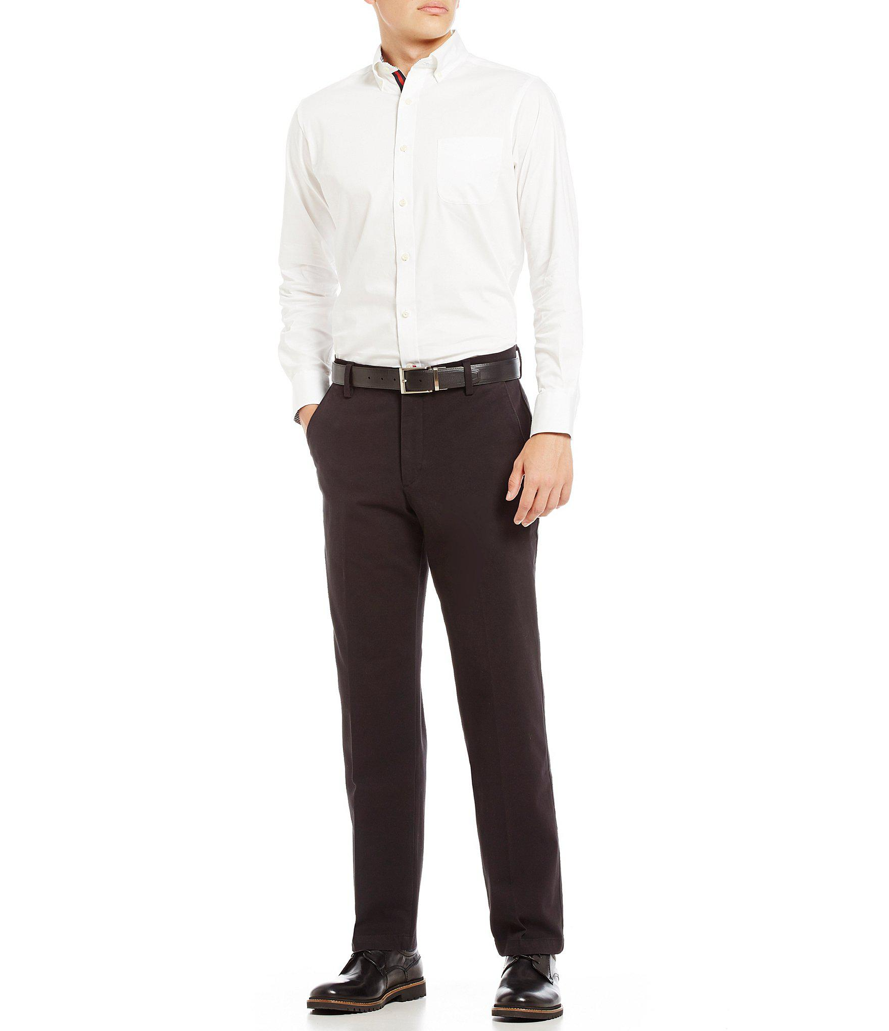 90bbb46110f22d Tap to visit site. Dockers - Natural Docker's 360 Flex Waistband Refined  Straight Fit Chino Flat Front Pants for Men