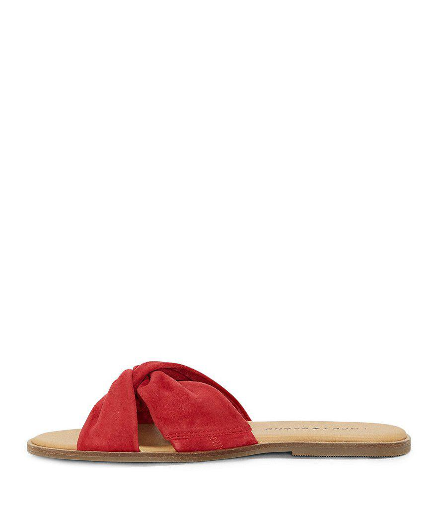 Dezzee Suede Twist Band Flat Sandals KlTdUQW6eu