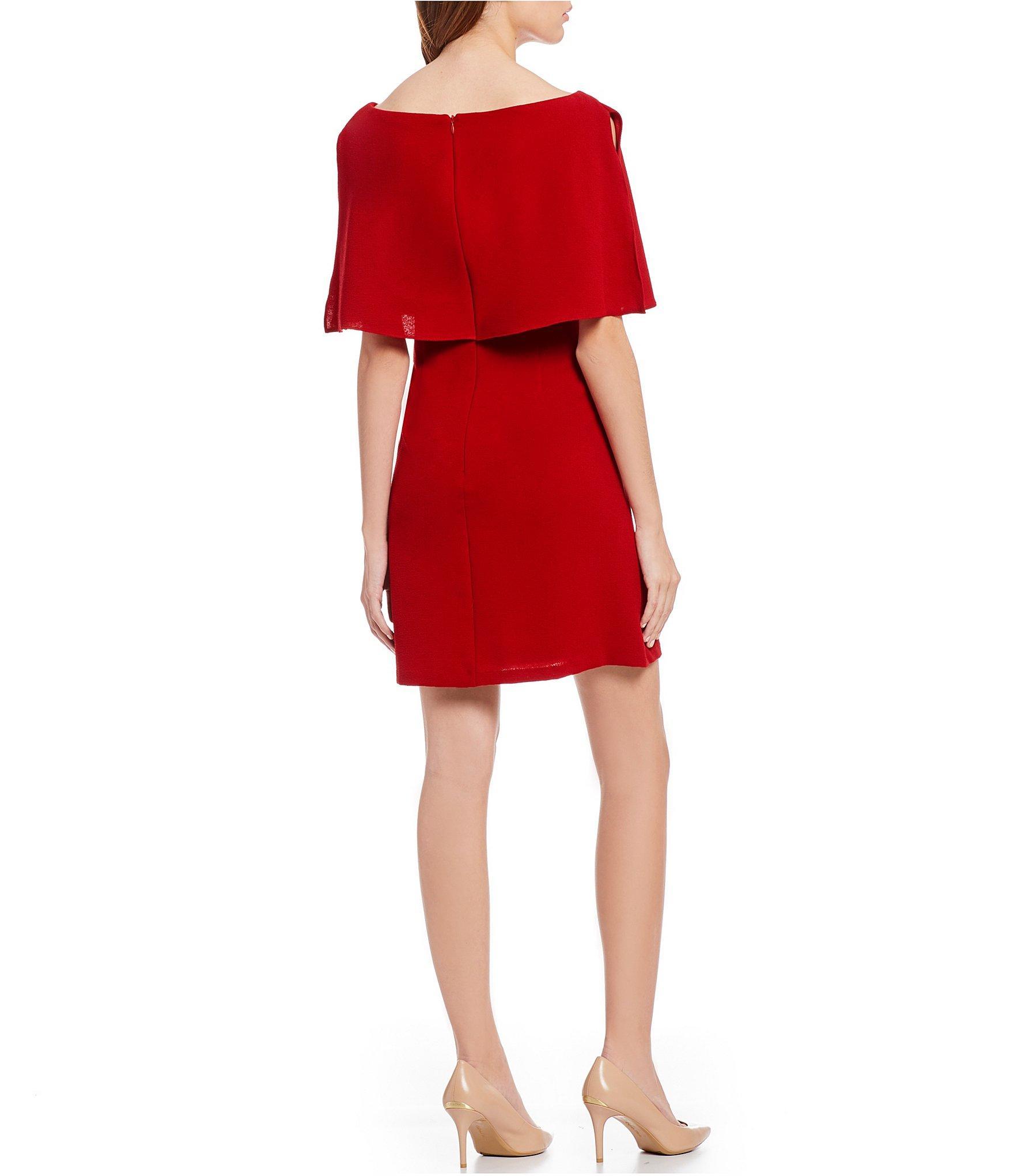 08c7a0fa8ec4 Adrianna Papell - Red Split Sleeve Popover Dress - Lyst. View fullscreen