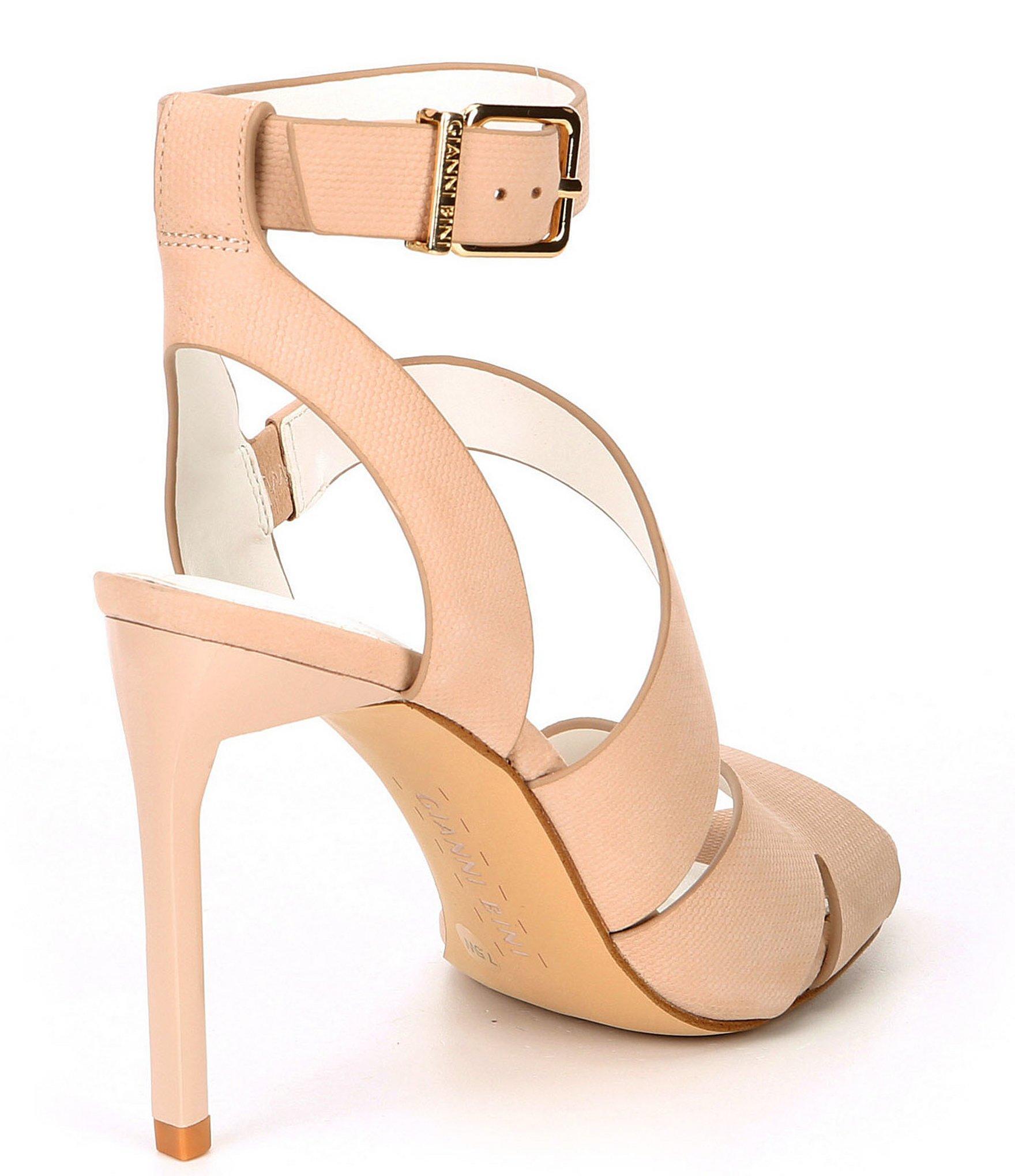 e60beb011a Gianni Bini - Natural Adeena Nubuck Asymmetrical Dress Sandals - Lyst. View  fullscreen