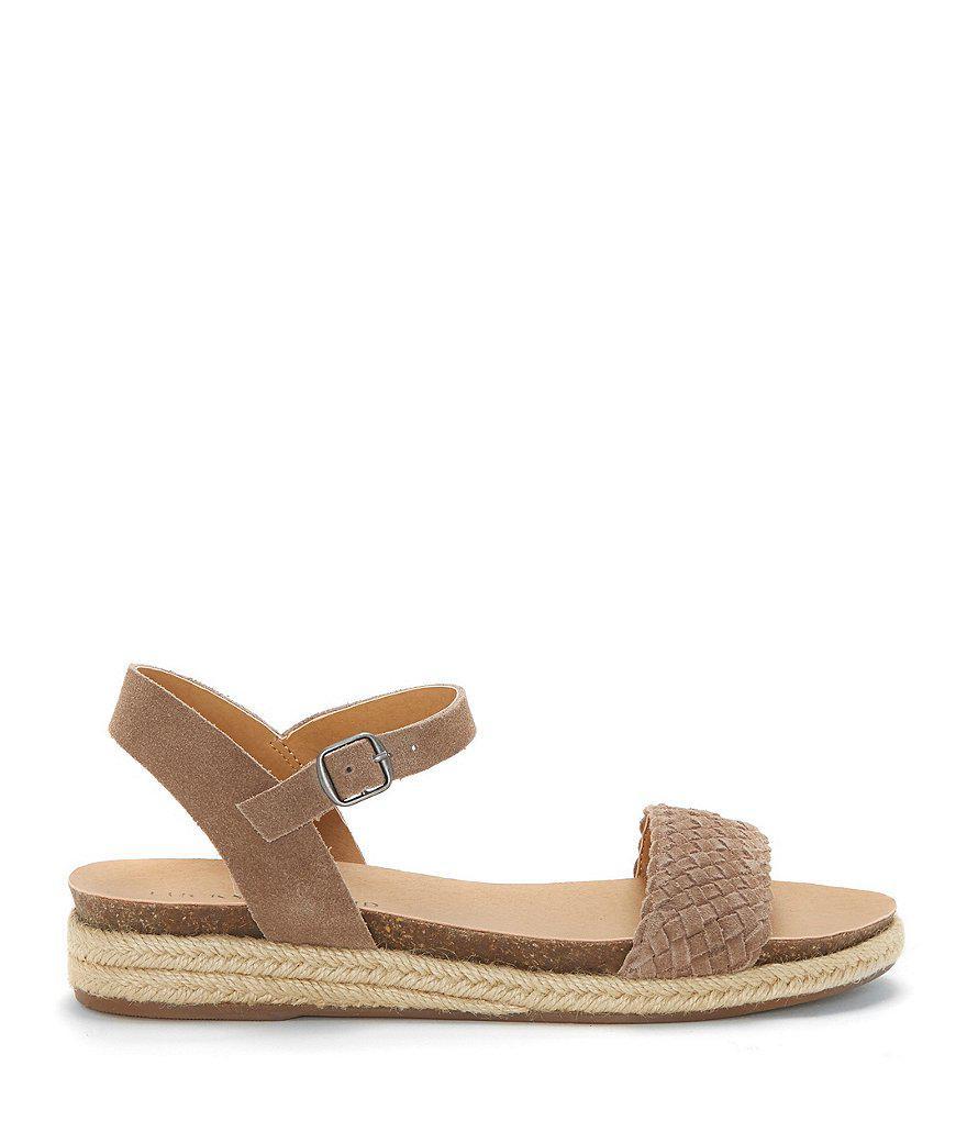 Lucky Brand Genette Suede Espadrille Sandals 7pfAQYx