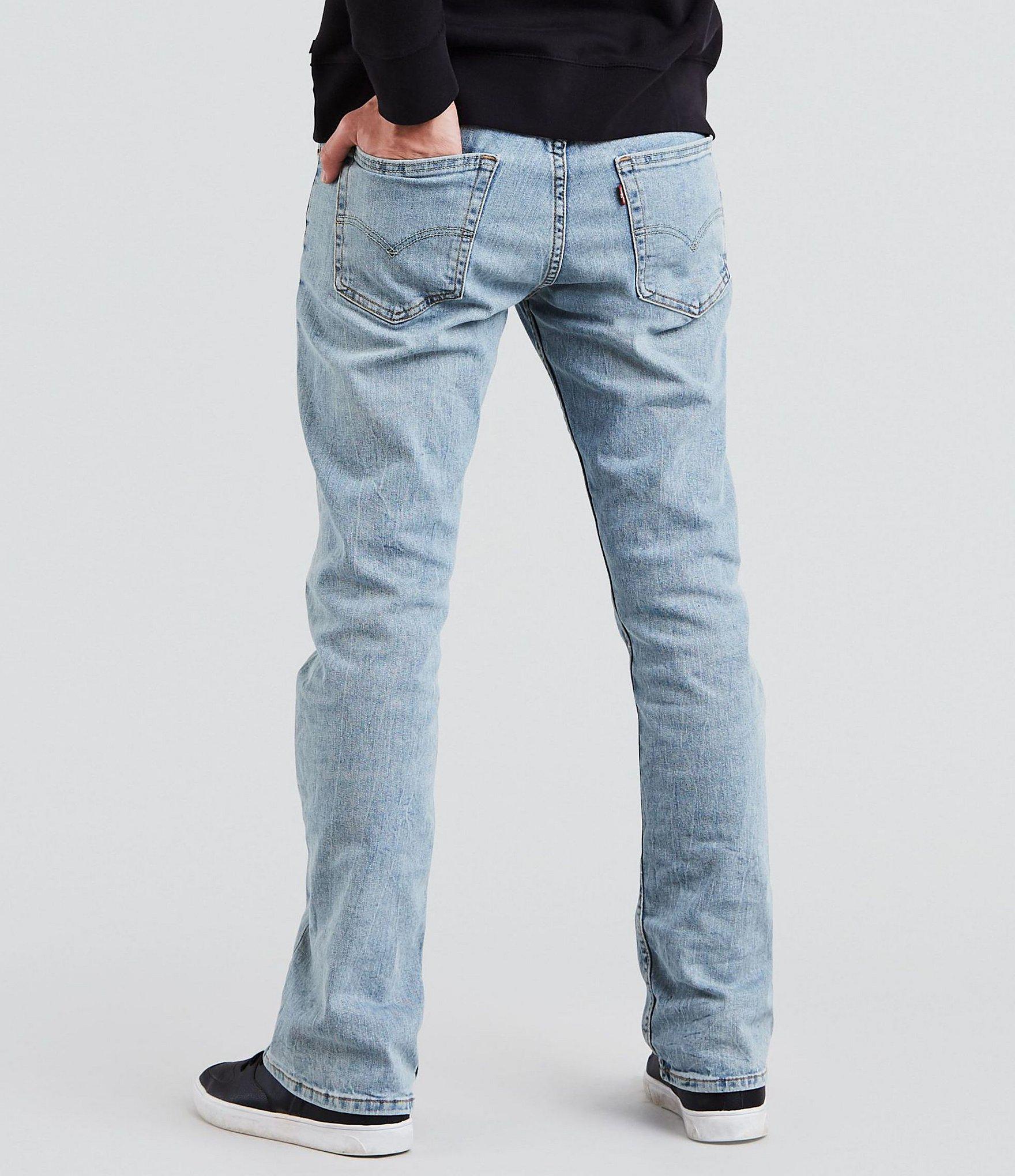 5abbaf858f Levi s - 527 Blue Stone Wash Slim Bootcut Jeans for Men - Lyst. View  fullscreen