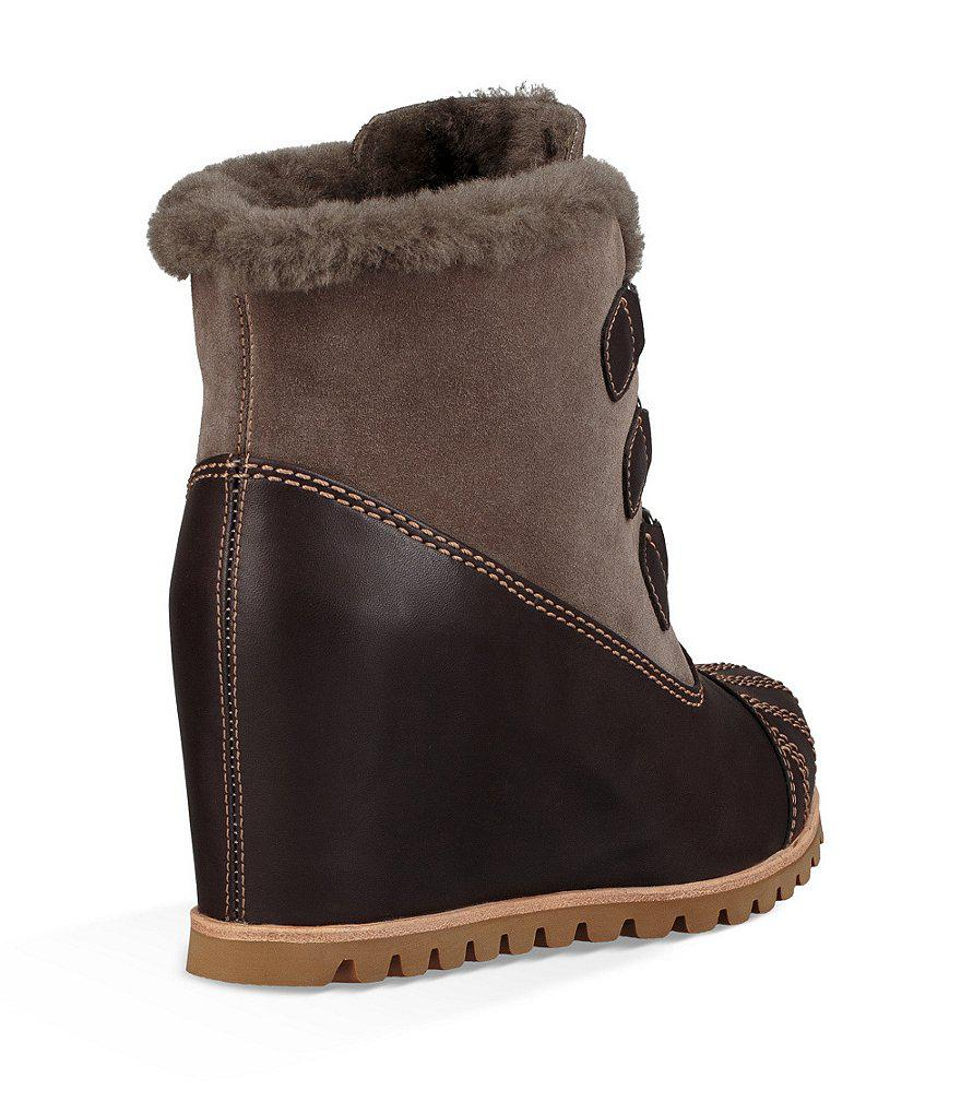 2a7572541d6 Lyst - UGG ® Alasdair Waterproof Wedge Booties in Brown