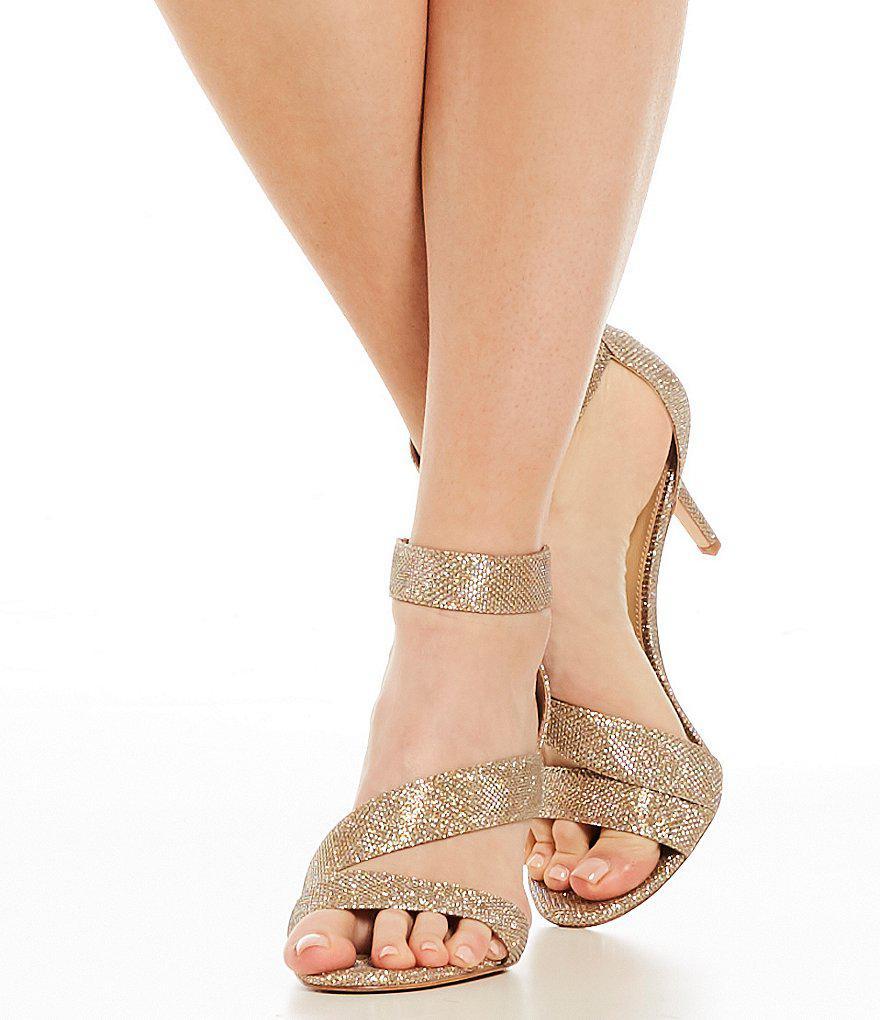 Jaydyn Banded Glitter Ankle Strap Dress Sandals FxwVW