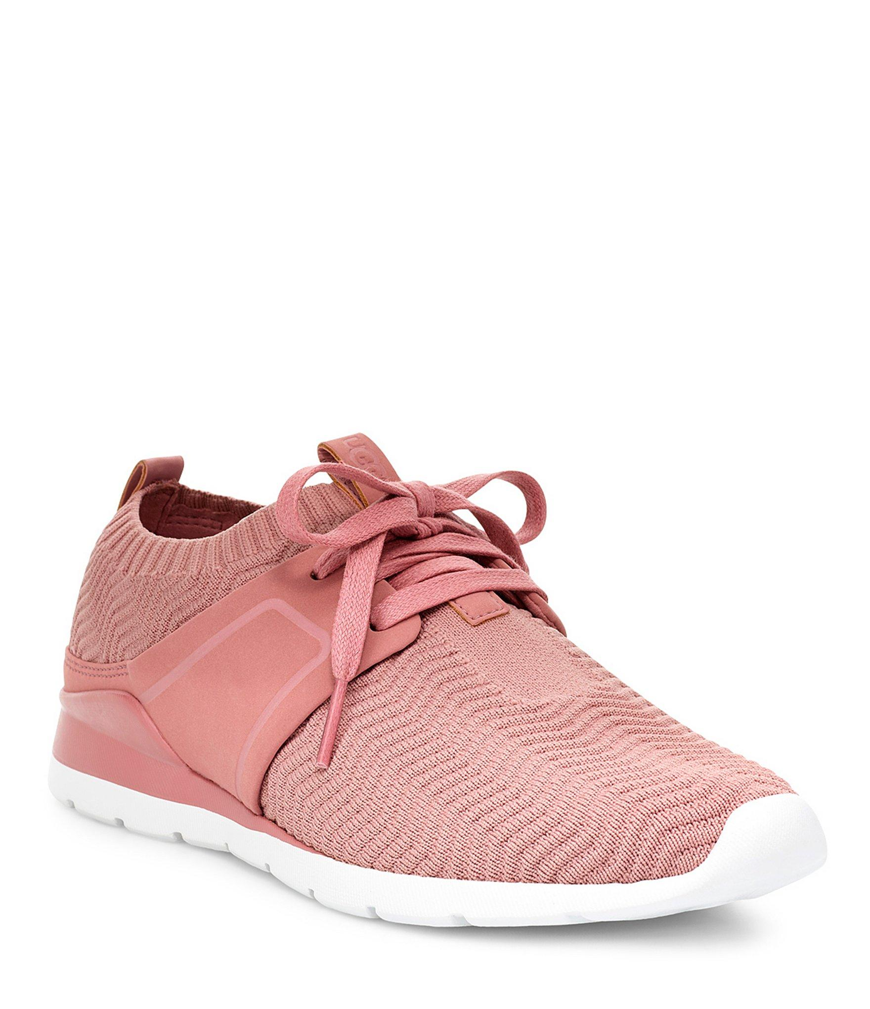 0fcf07fb615 Lyst - UGG Willows Soft Knit Sneakers in Pink