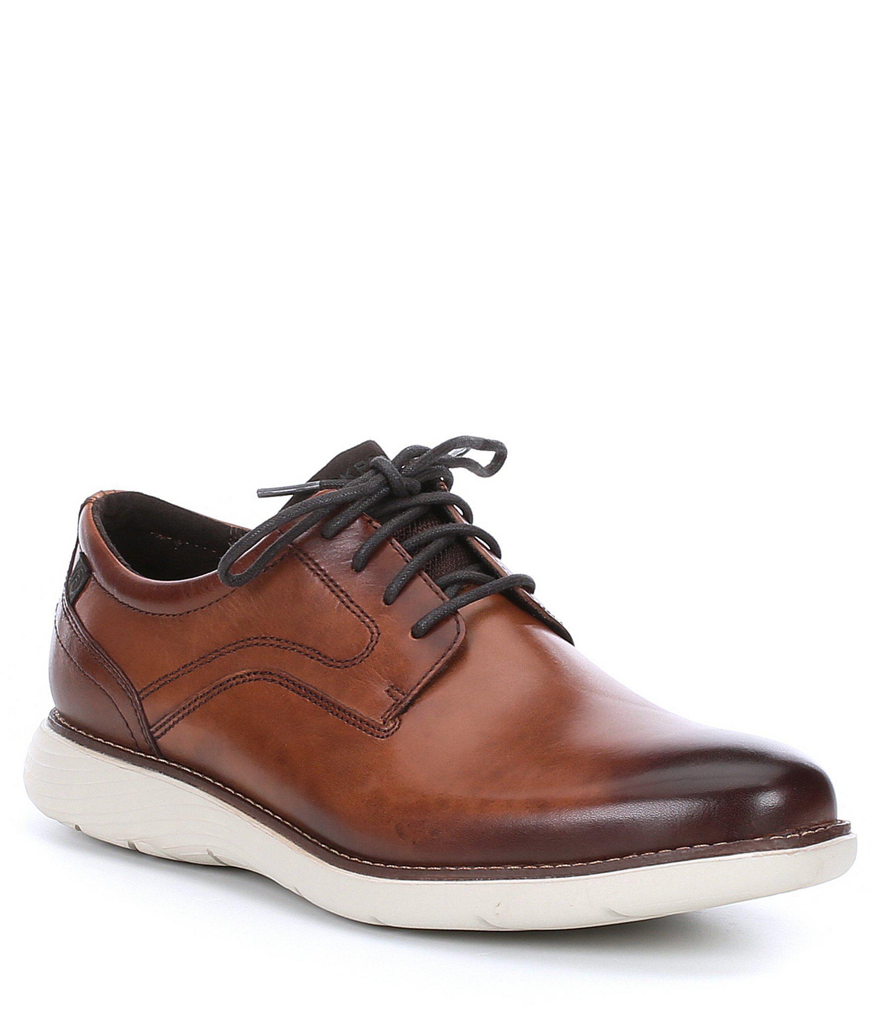 763630655a0e9 Rockport Men's Kessler Leather Plaintoe Oxford in Brown for Men - Lyst