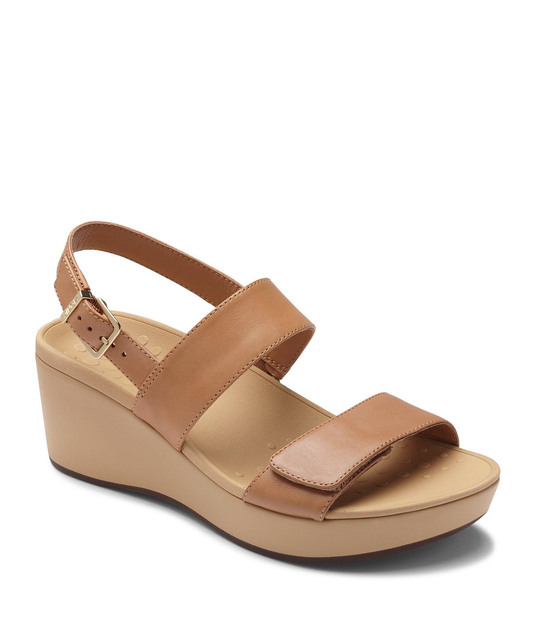 578dc1a02878e Lyst - Vionic Lovell Banded Wedge Sandals in Brown