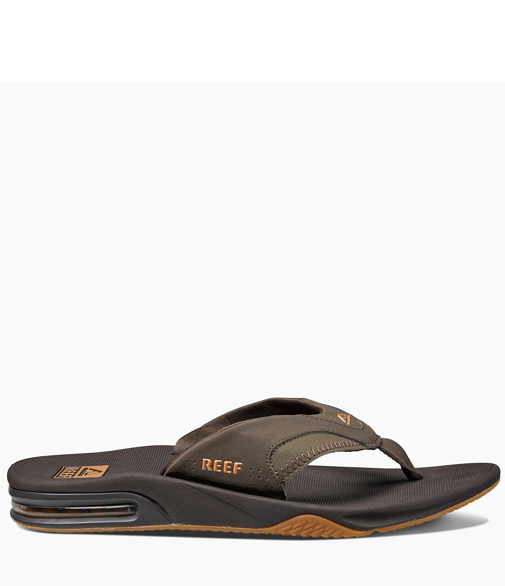 3378e566c11b Reef - Green Fanning Thong Sandals for Men - Lyst. View fullscreen