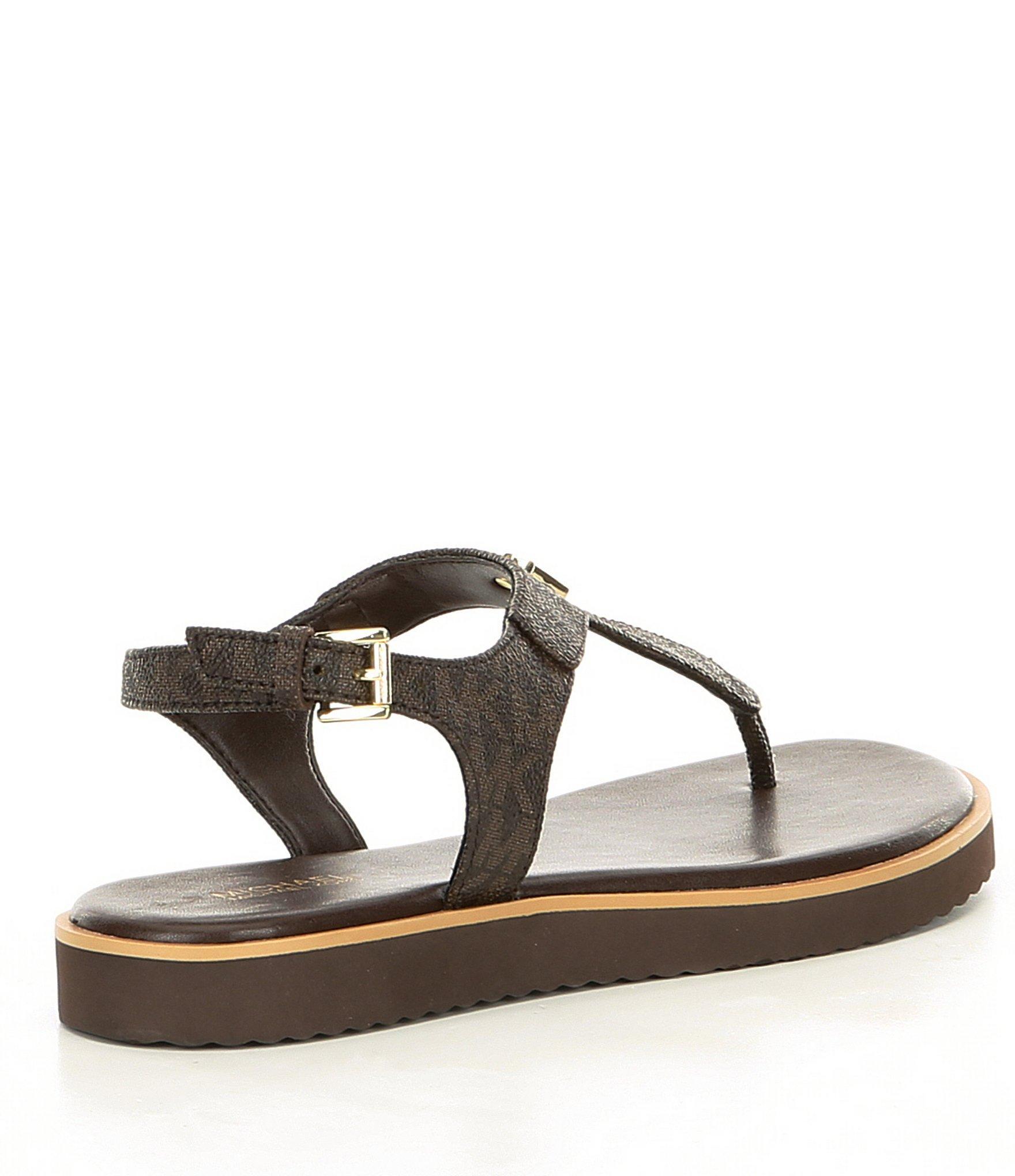 19f7b679d9c6 MICHAEL Michael Kors Brady Thong Sandals in Brown - Lyst