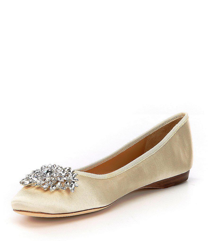 Pippa Jeweled Satin Dress Flats o0cyKV