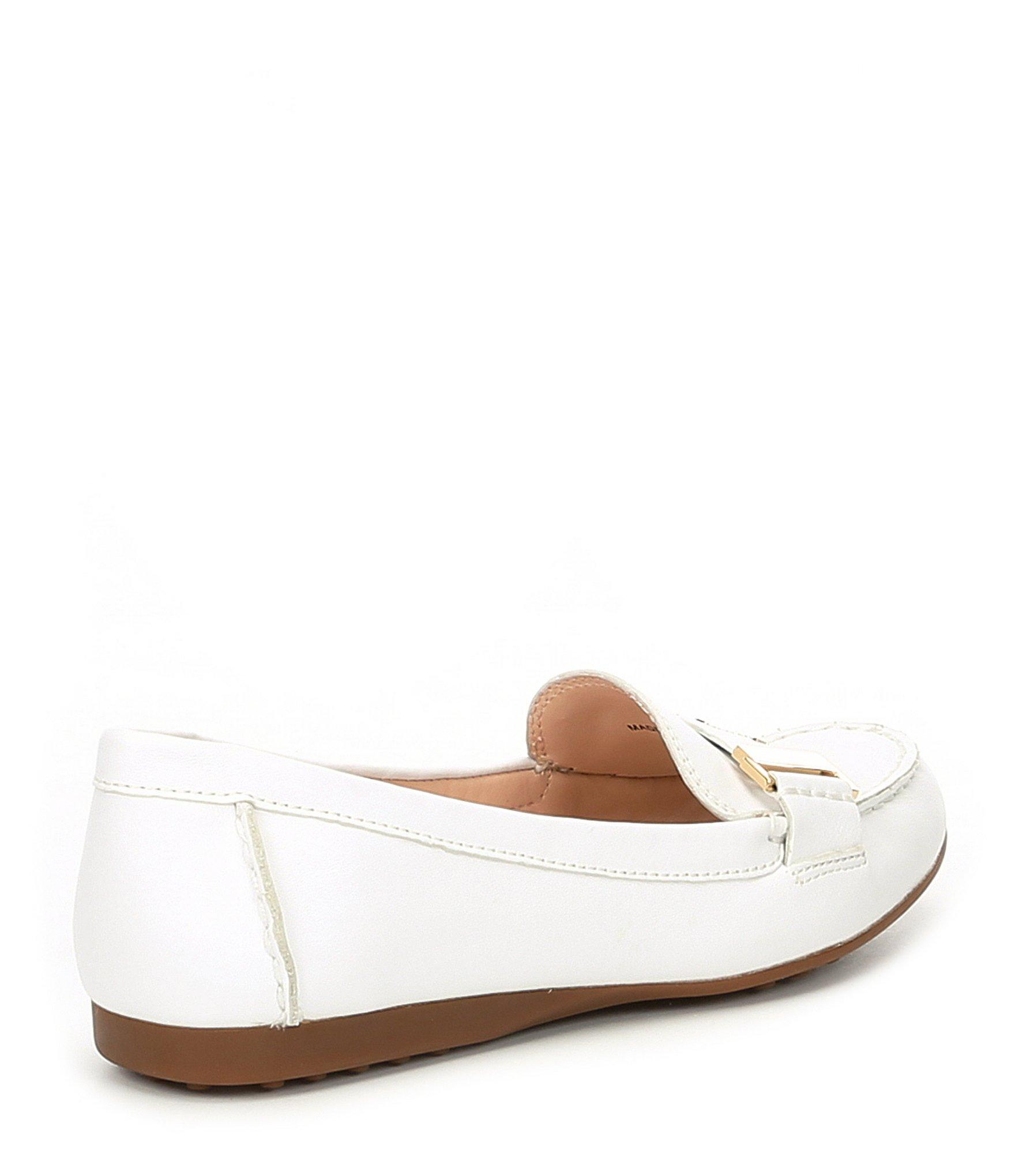 f919b74257a7 Kate Spade - White Colette Leather Logo Loafers - Lyst. View fullscreen