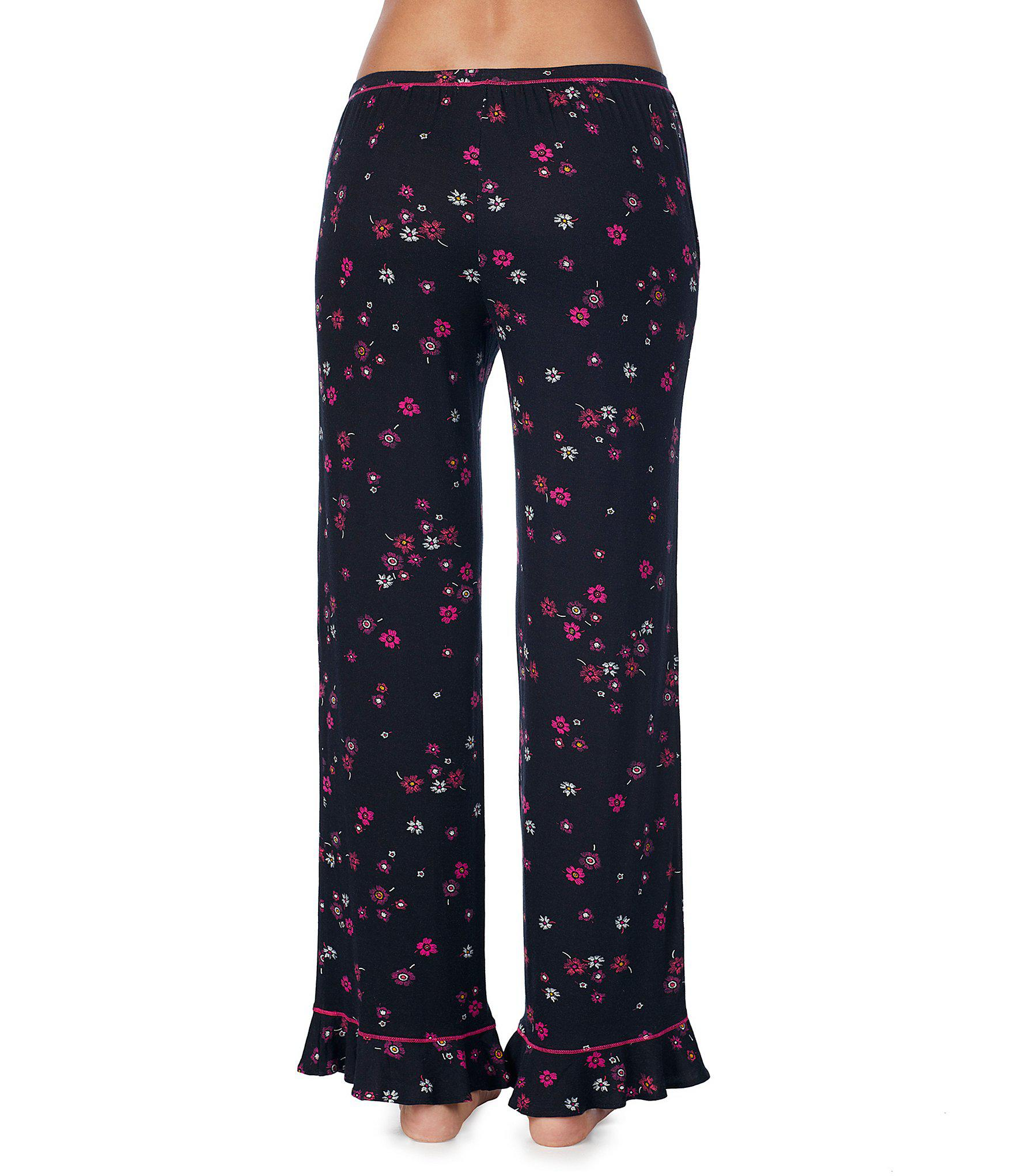 4ab9cf6a39 Kensie - Blue Floral-printed Jersey Knit Sleep Pants - Lyst. View fullscreen