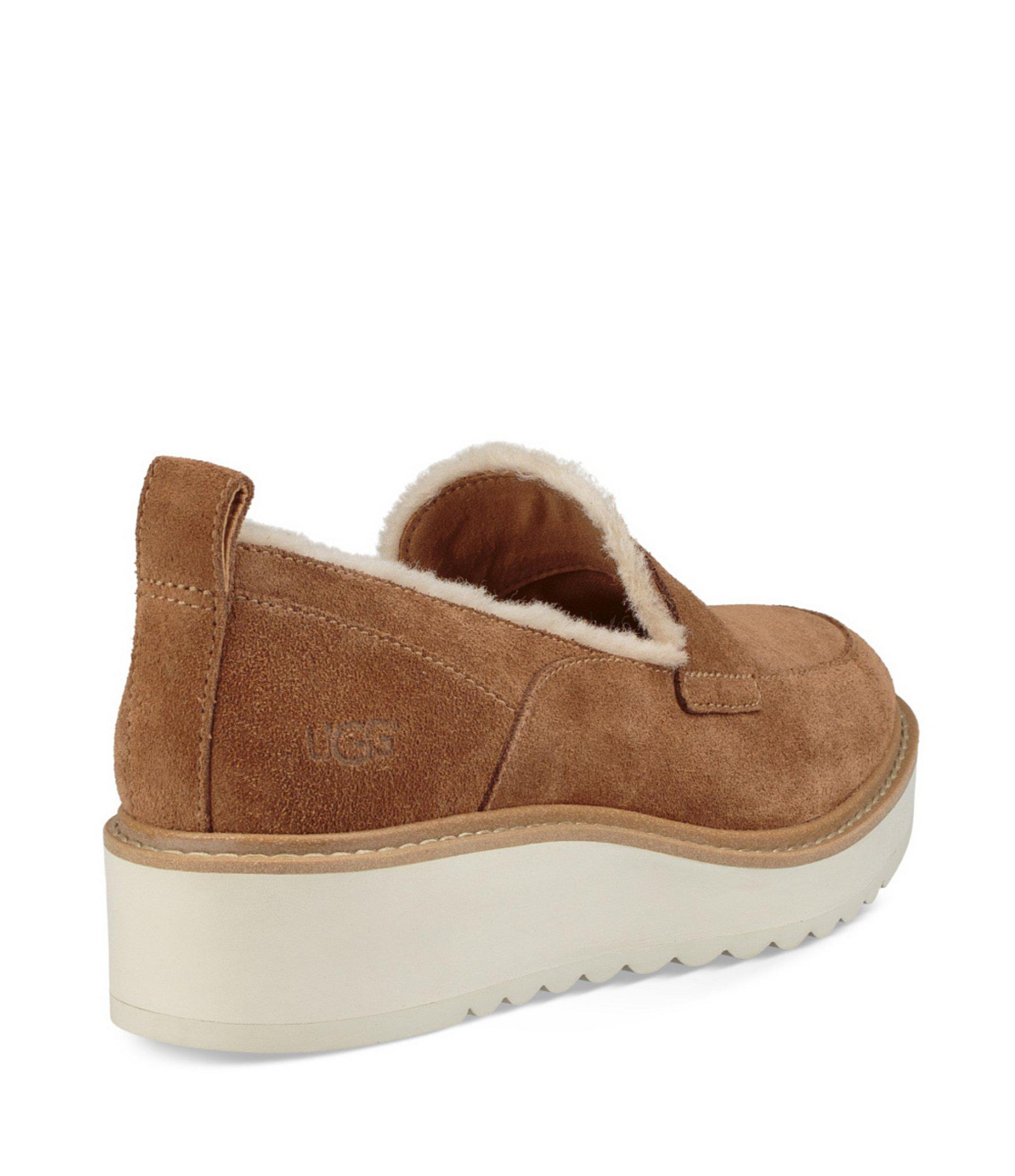 647f7b709fc Lyst - UGG Atwater Spill Seam Wedge Loafers in Brown