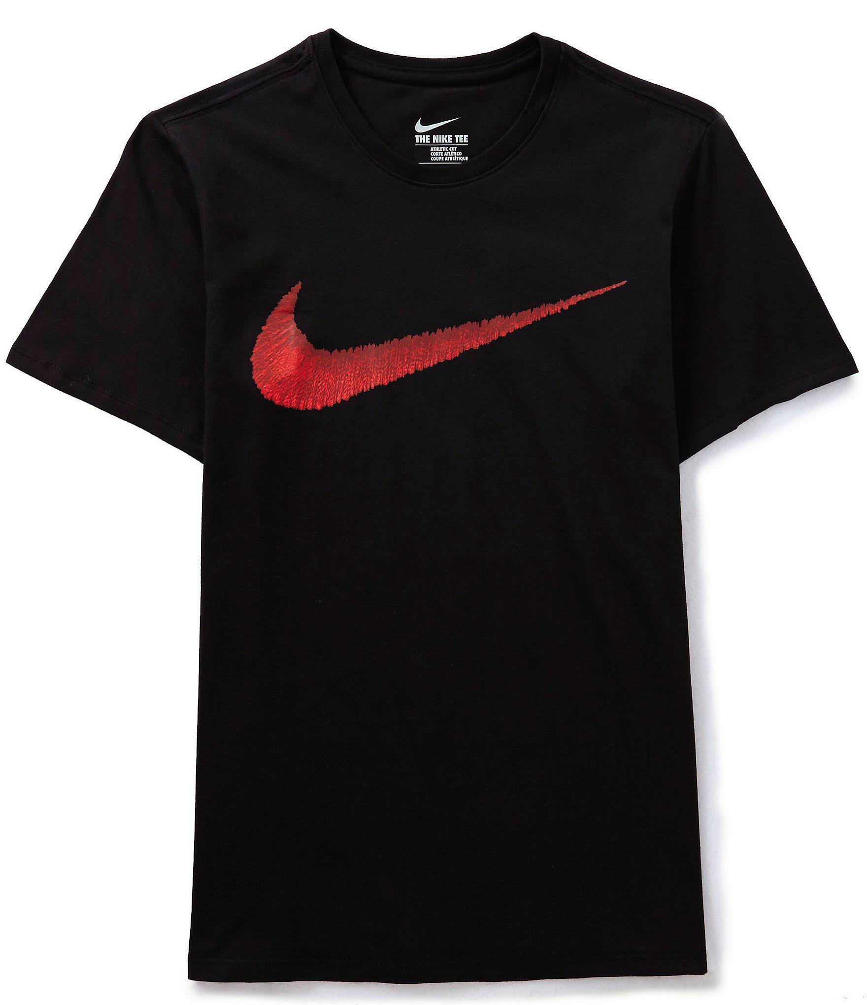 271e3a29 Lyst - Nike Big & Tall Hangtag Swoosh Short-sleeve Crewneck Graphic ...
