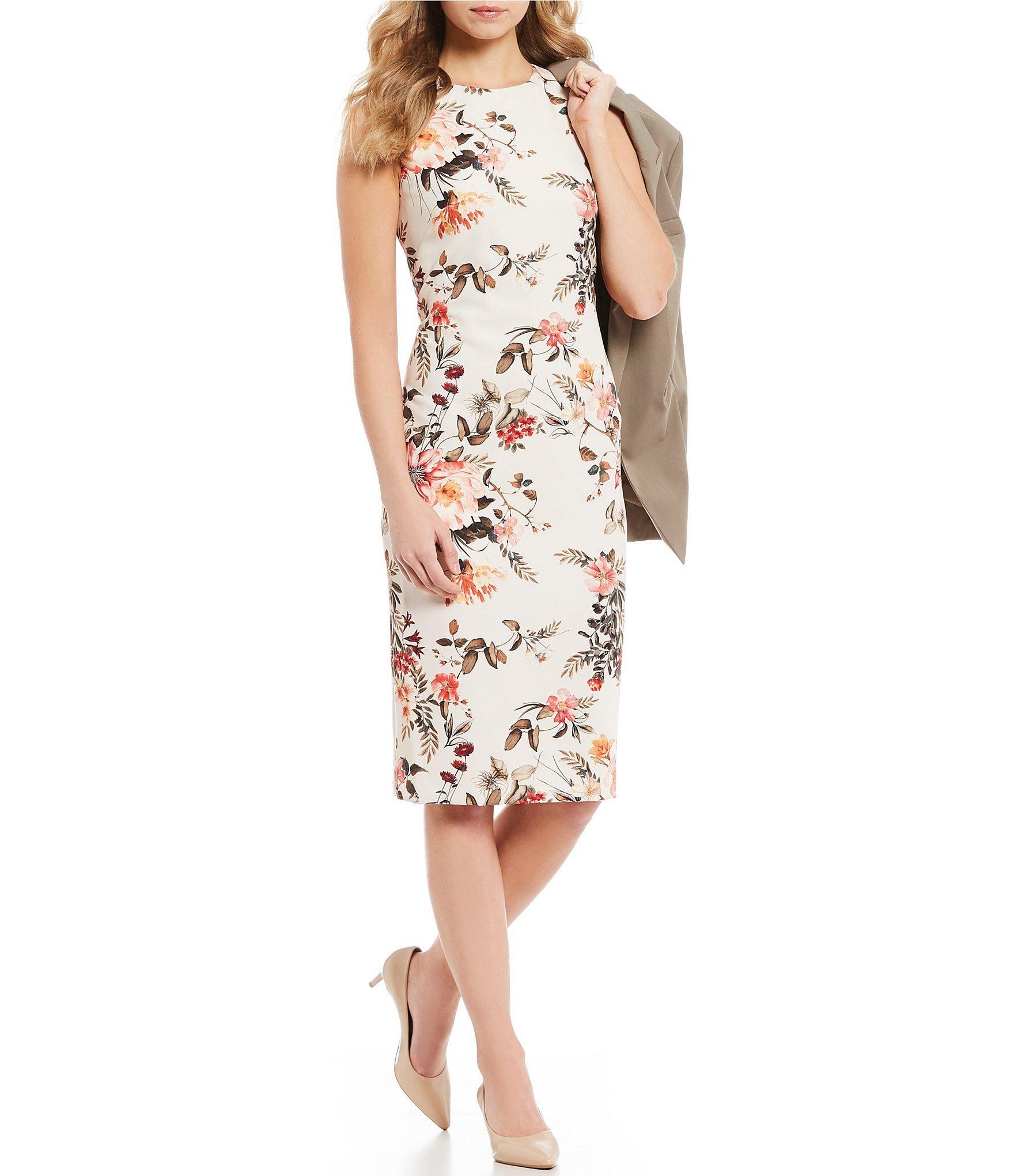 b9d4f46246d Antonio Melani Jadie Floral Print Sleeveless Midi Dress in White - Lyst