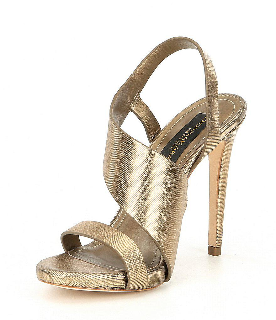 Donna Karan Sharon Metallic Dress Sandals eGQQWas