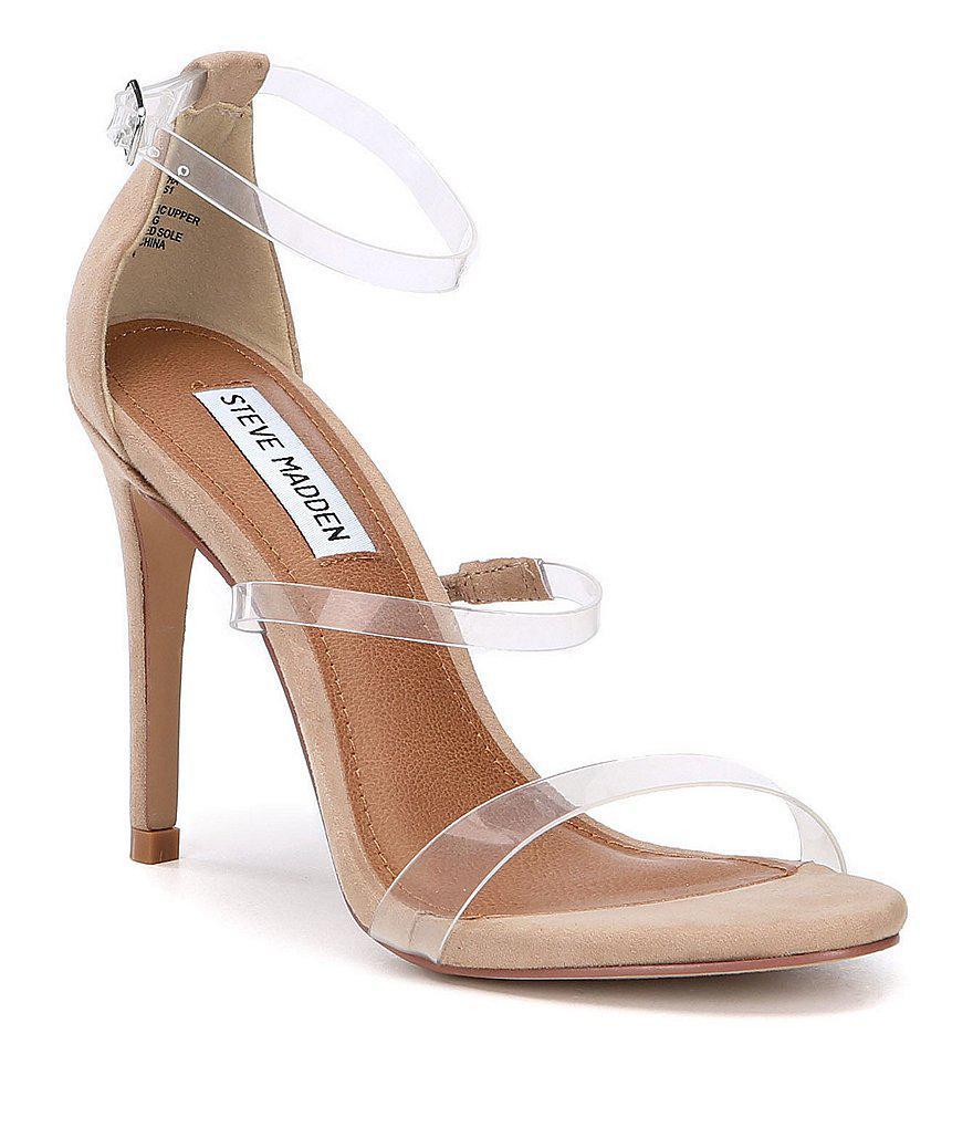 Lyst - Steve Madden Samantha Lucite Dress Sandals
