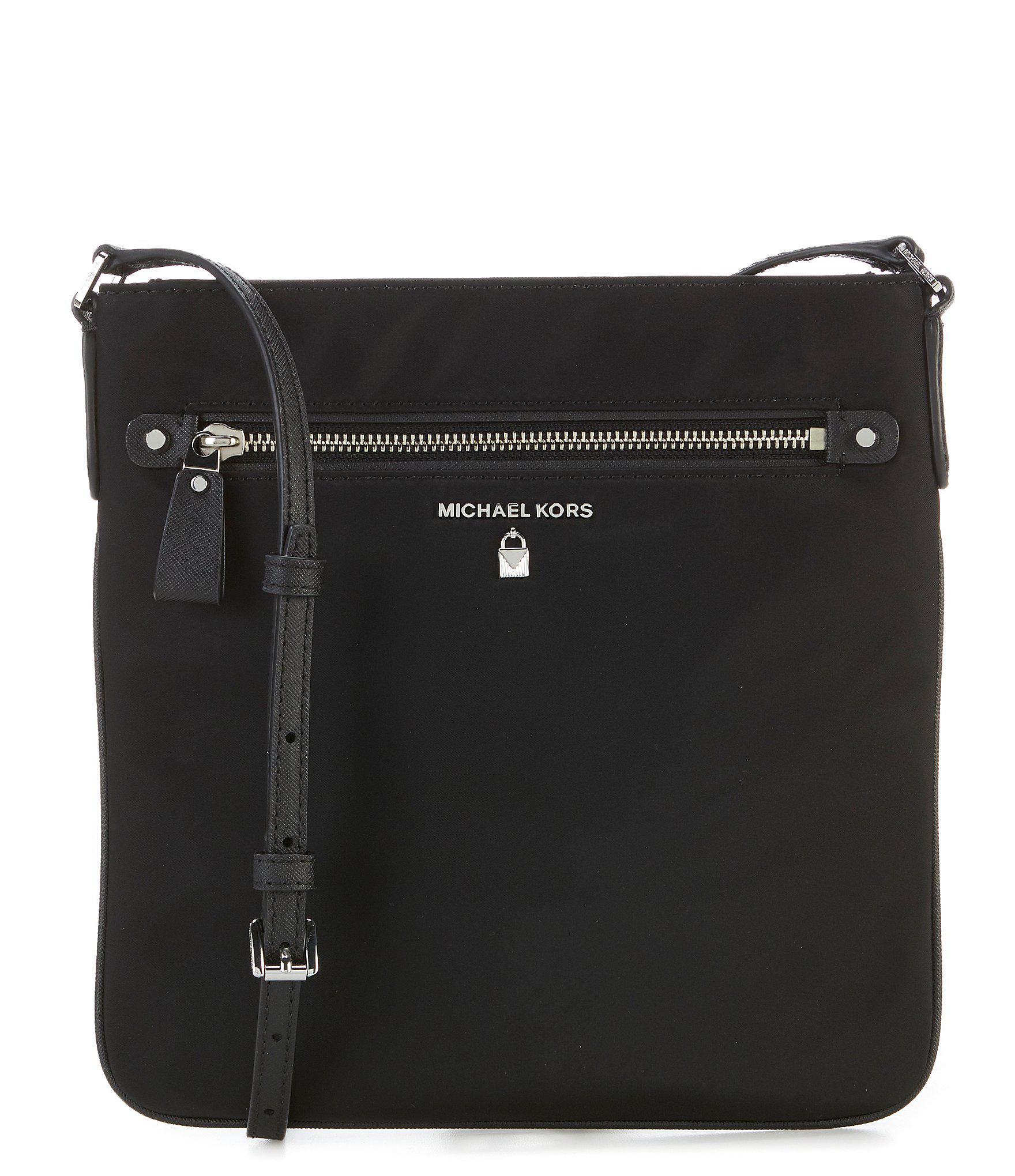 7c48119f44 Lyst - Michael Michael Kors Kelsey Nylon Large Cross-body Bag in Black