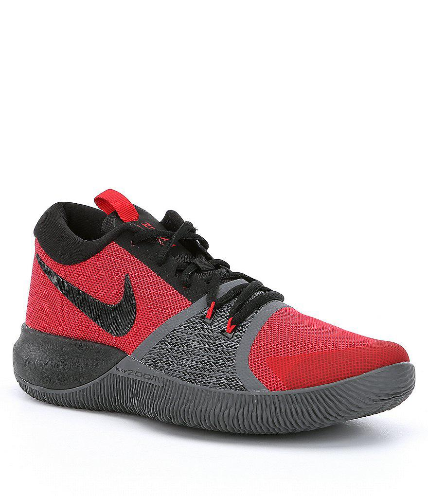 new arrival 1cc44 398b4 Nike Men ́s Zoom Assersion Basketball Shoes in Red for Men - Lyst