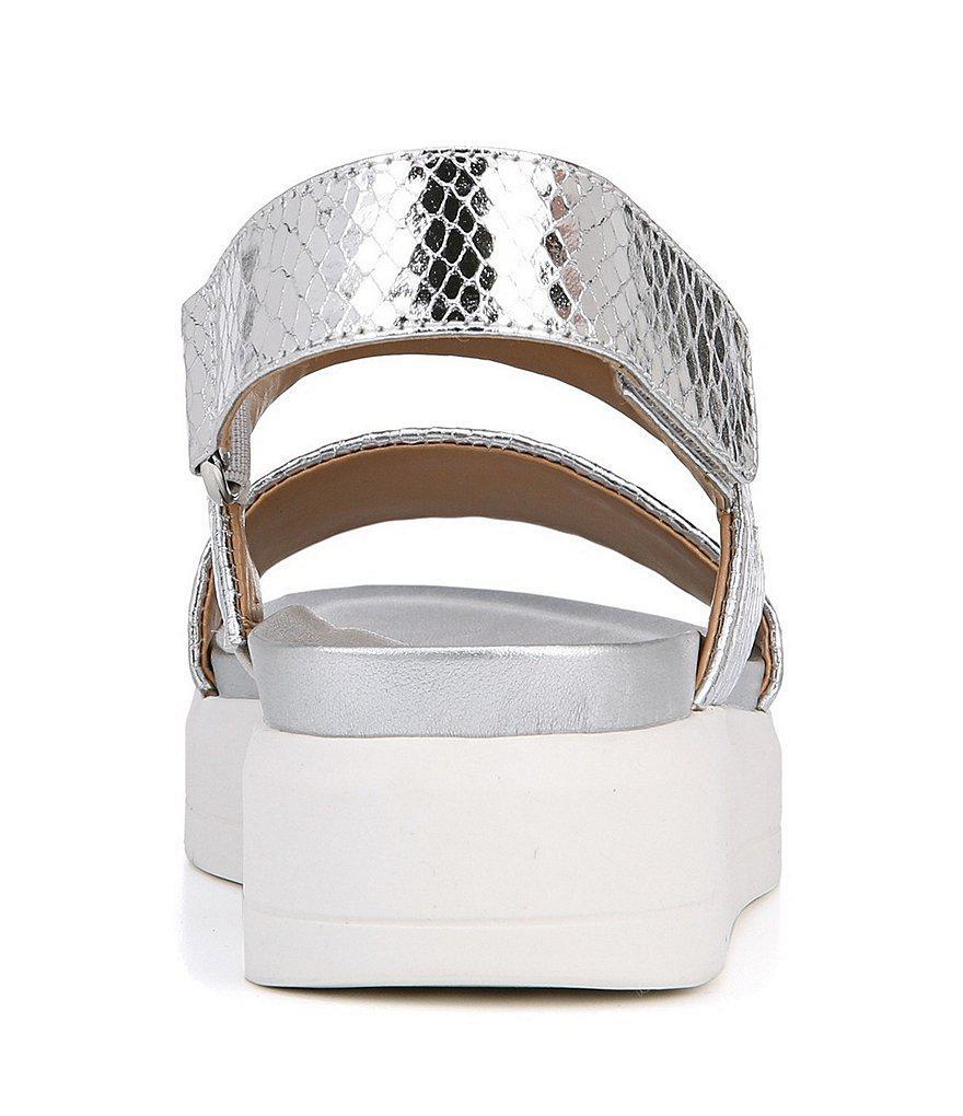 Kenan Metallic Snake Print Platform Sandals yYnweJ