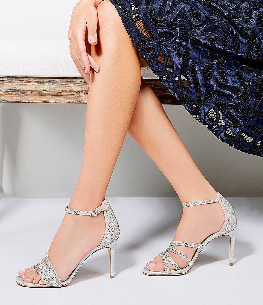 Paoline Suede Asymmetrical Rhinestone Detail Ankle Strap Dress Sandals 1d8wZMjYf0