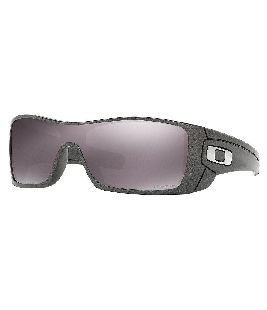 796afaca11 ... discount oakley. mens gray batwolf granite daily prizm polarized flash  mirror wrap sunglasses fc2ce cf392