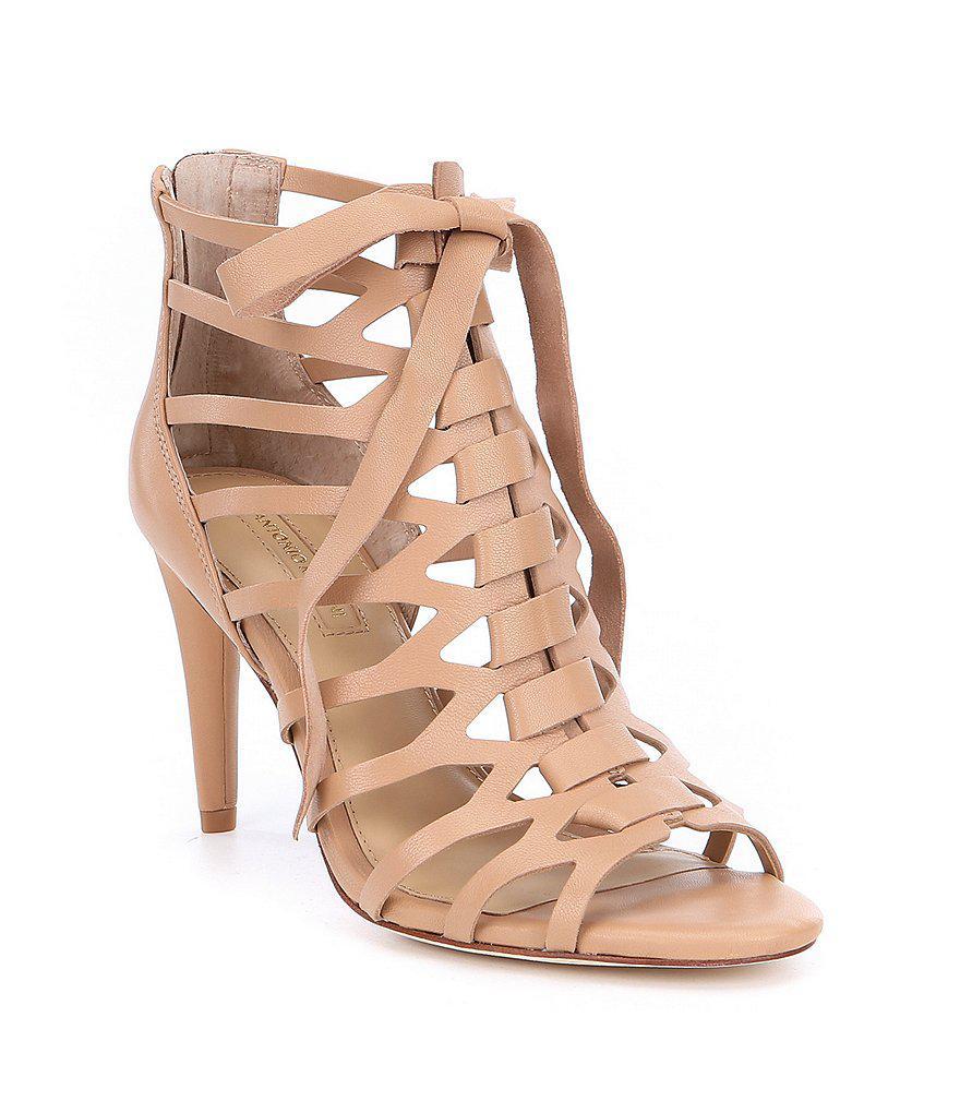 Antonio Melani Merraline Caged Lace-Up Dress Sandals tyxj7iIX