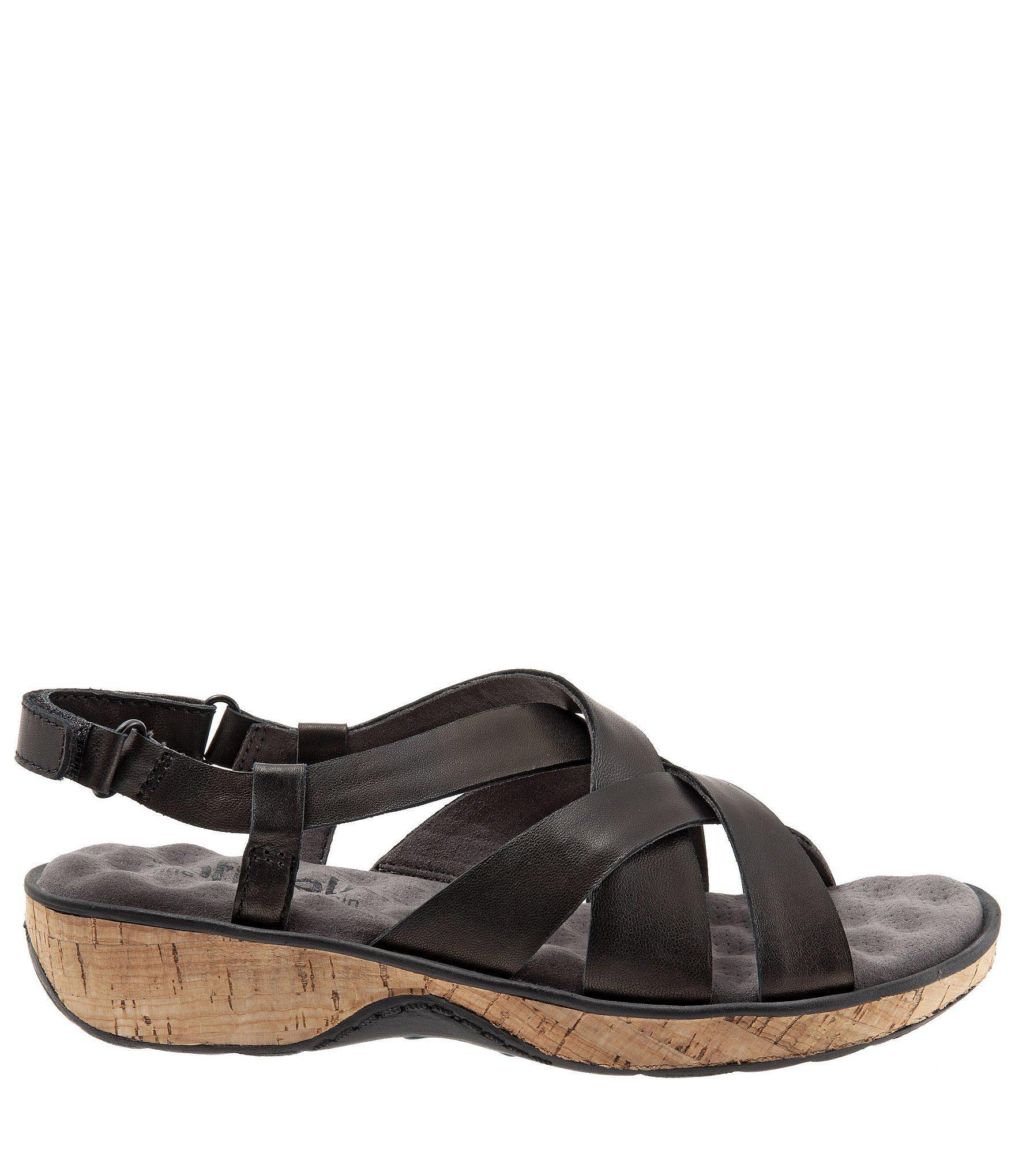 9a3427ba762e2c ... Black Bonaire Leather Criss-cross Strap Sandals - Lyst. View fullscreen