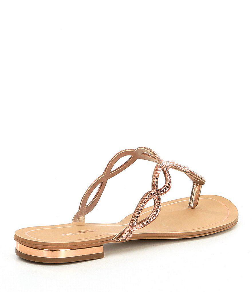 ALDO Thelisien Bling Strap Slide Sandals IKkH1jN6
