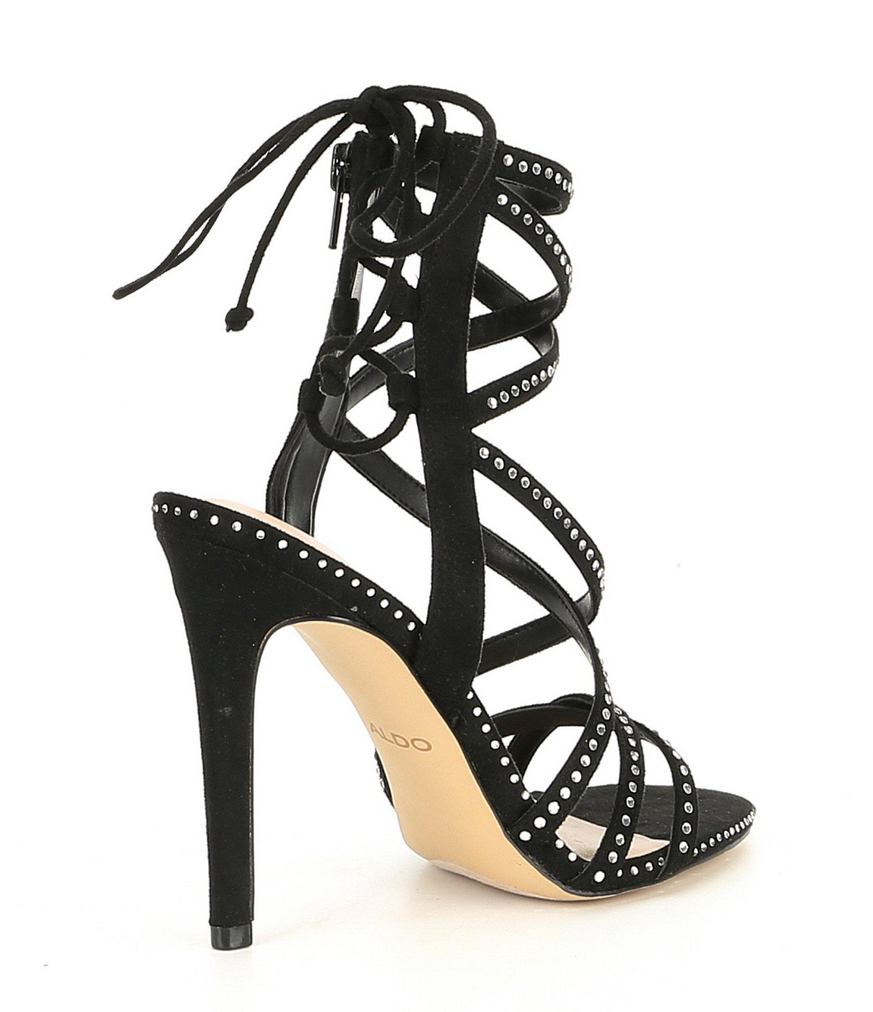 89b029f689d ALDO - Black Rubert Banded Embellished Dress Sandals - Lyst. View fullscreen