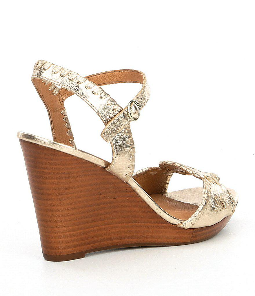 Clare Leather Rondelle Whiplacing Wedges UVNGZ