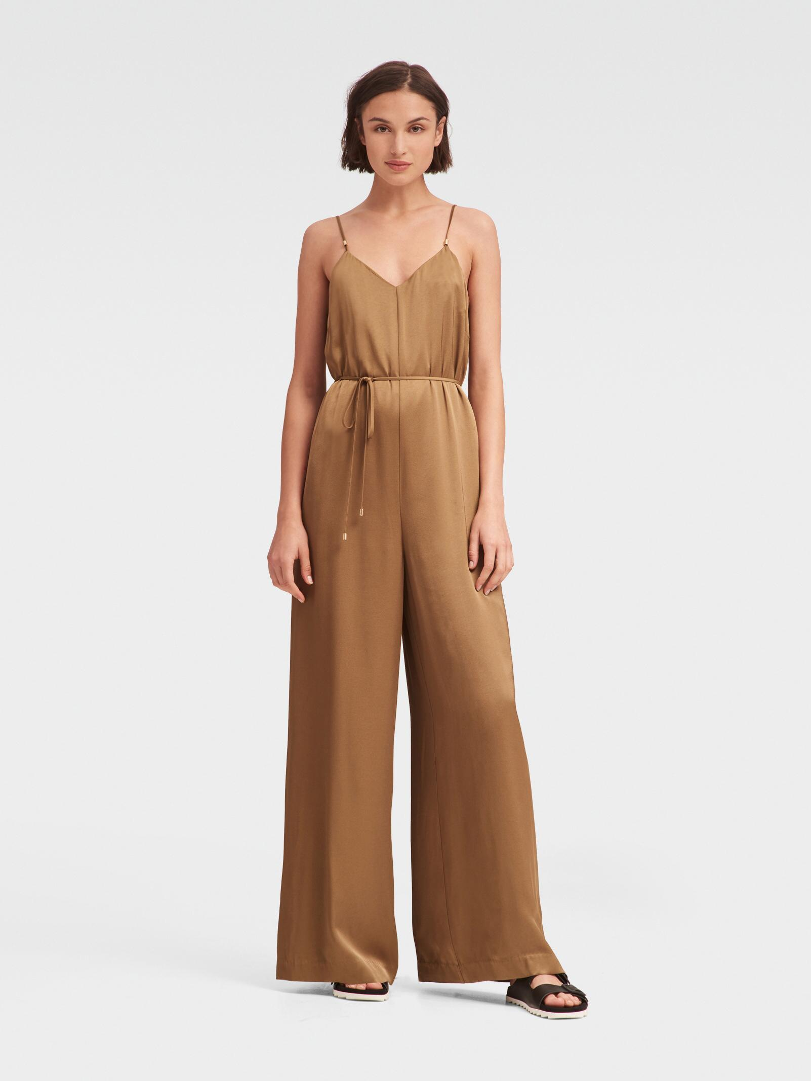 29783beced3b Lyst - DKNY Charmeuse Jumpsuit in Green