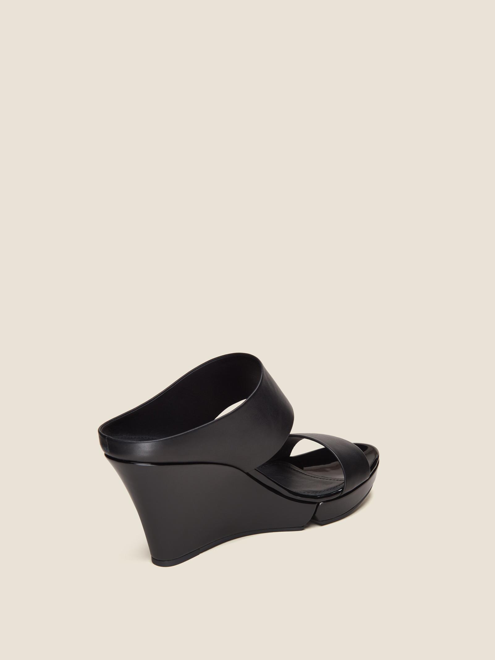 d86ef574f0a3 DKNY - Black Kami Leather Wedge Sandal - Lyst. View fullscreen