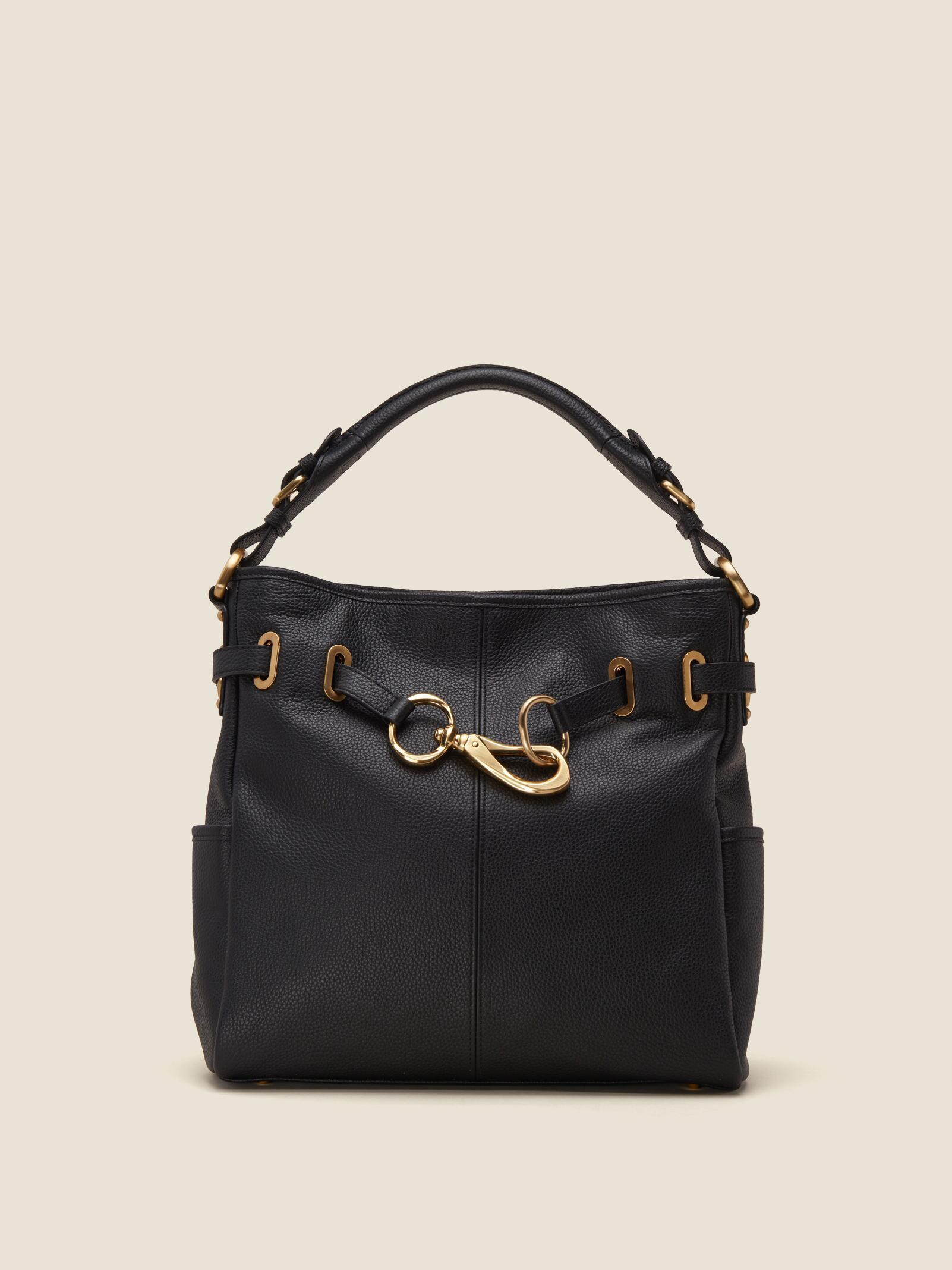 DKNY Sally Hobo (Black) Hobo Handbags O6FP5
