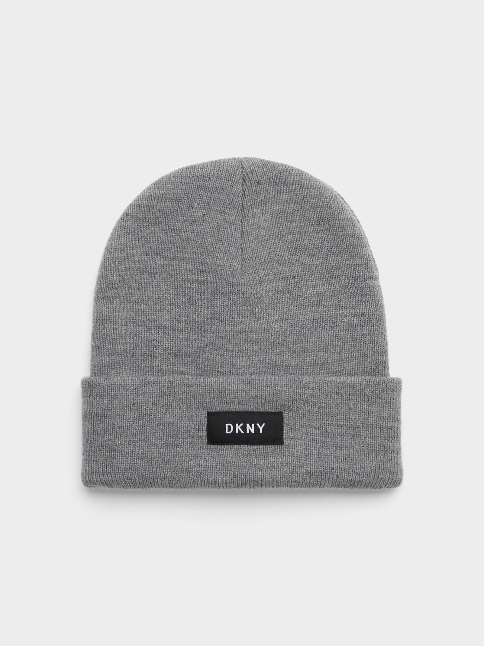 Lyst - DKNY Fold Over Hat in Gray for Men bc87be119d1d